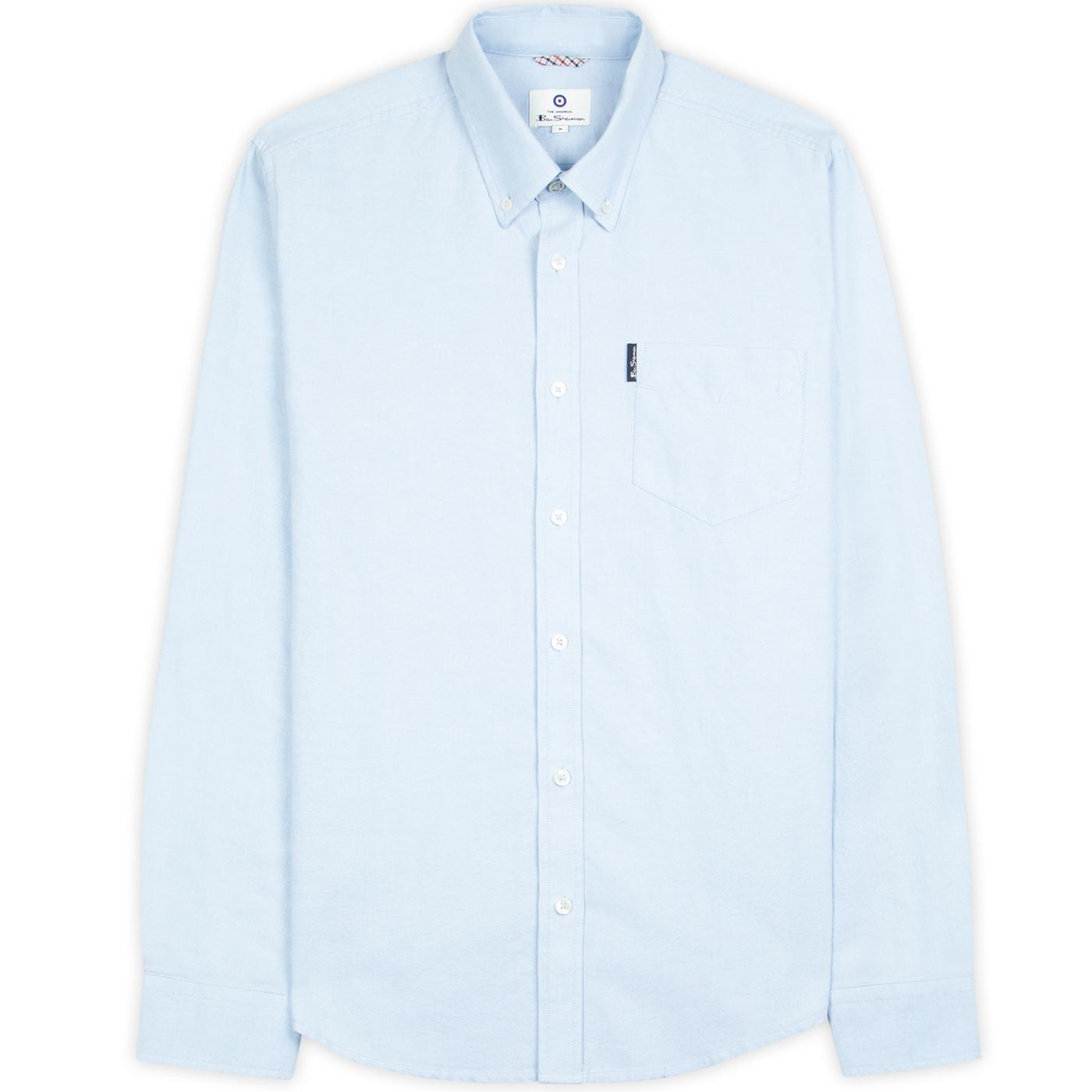 BEN SHERMAN 60s Mod LS Signature Oxford Shirt SKY