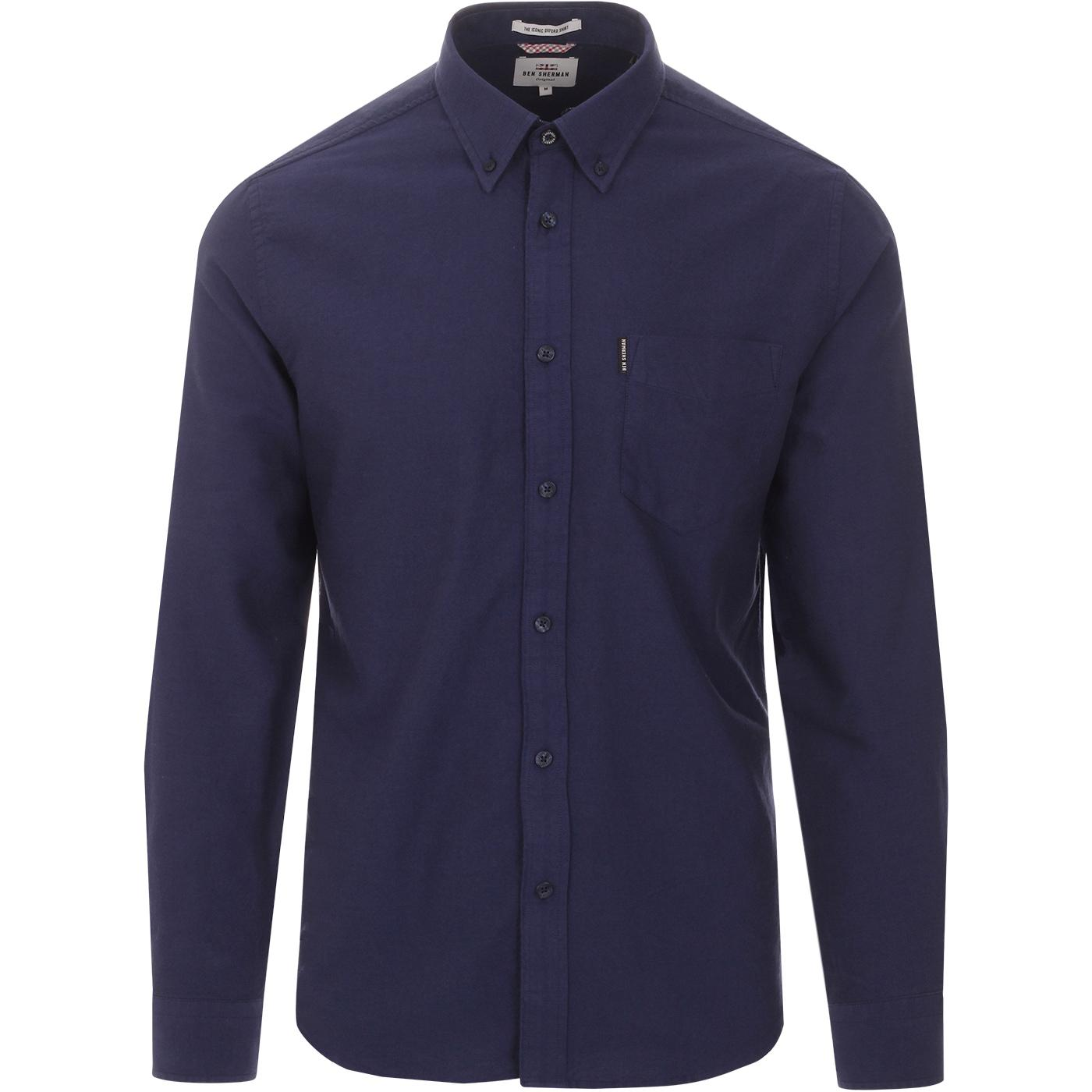 BEN SHERMAN Mod Button Down Oxford Shirt COBALT
