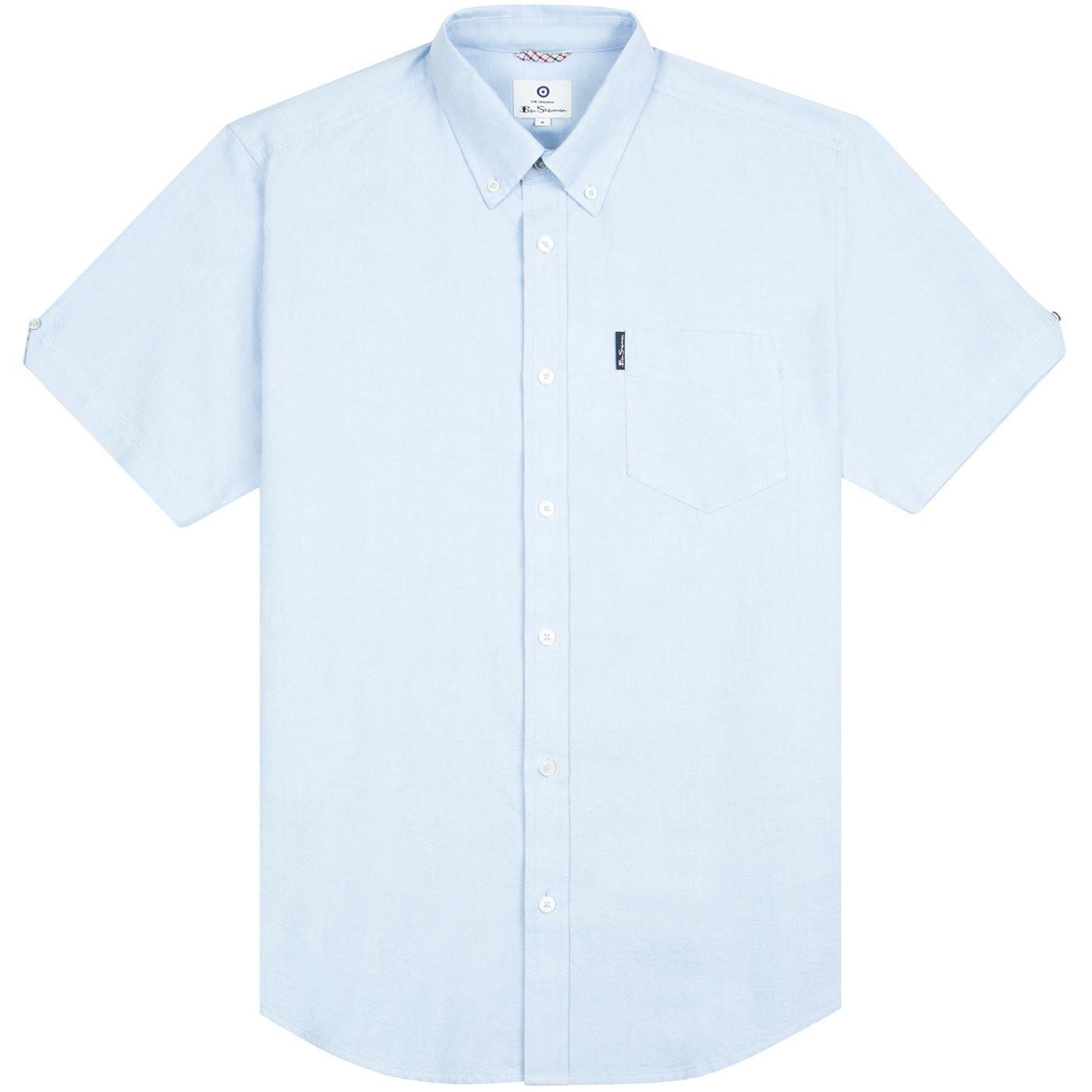BEN SHERMAN 60s Mod SS Signature Oxford Shirt SKY