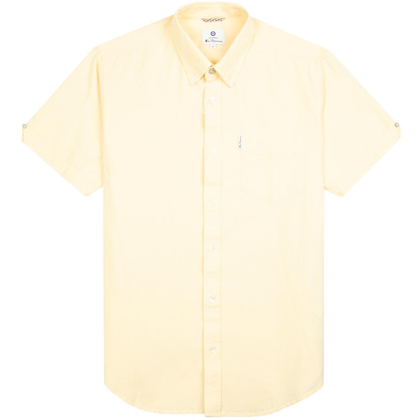 BEN SHERMAN Mod SS Signature Oxford Shirt (Yellow)