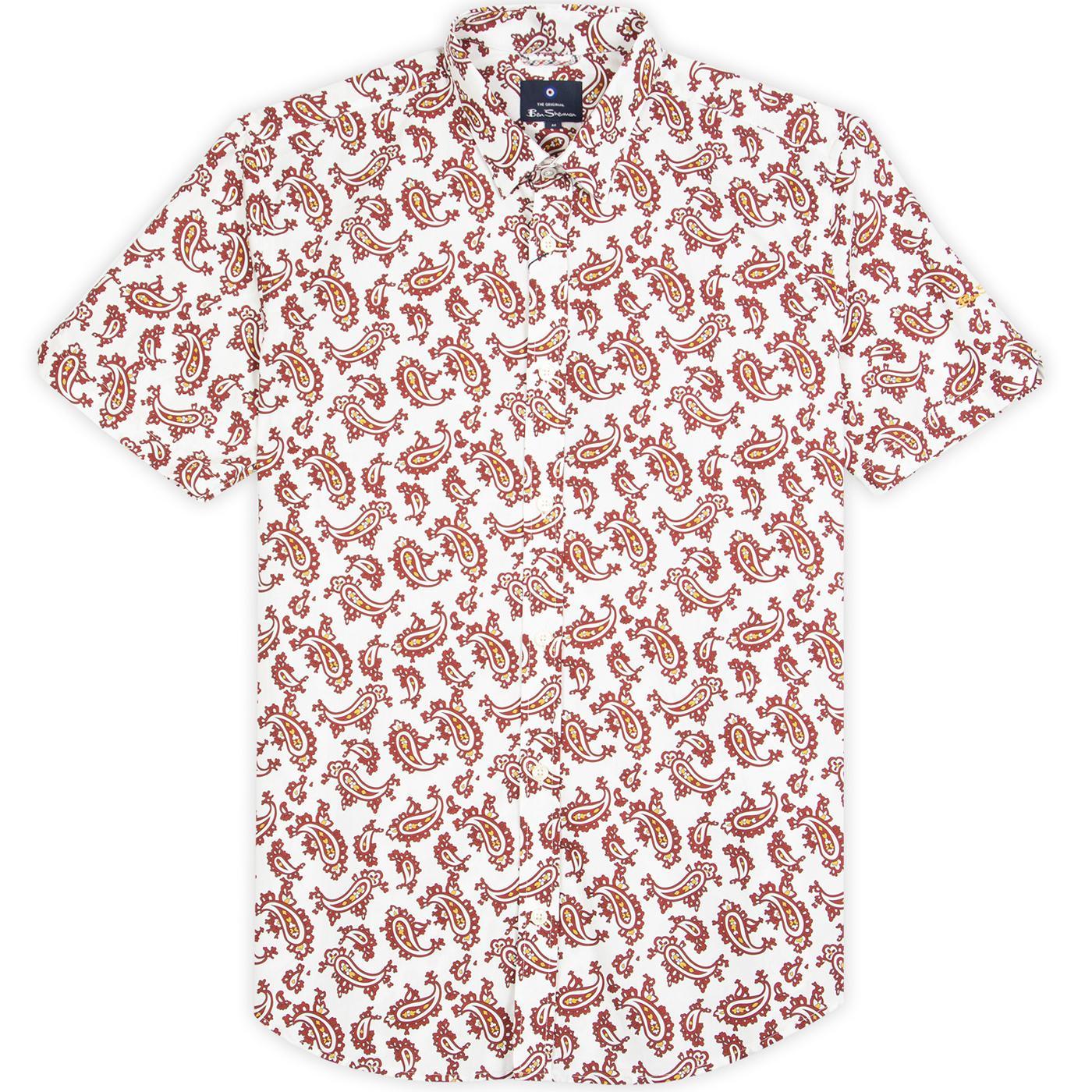 BEN SHERMAN 60s Mod Short Collar SS Paisley Shirt