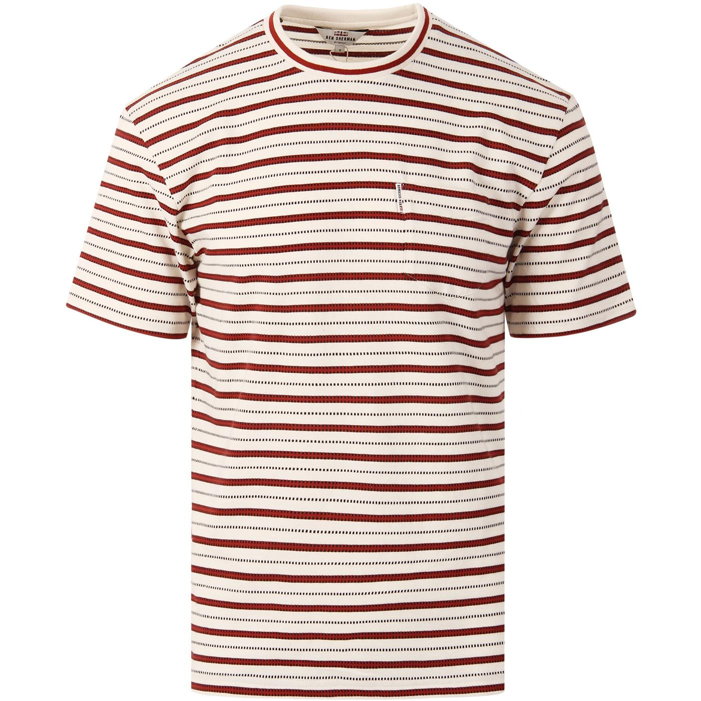 BEN SHERMAN Men's Retro 60s Multi Stripe T-Shirt
