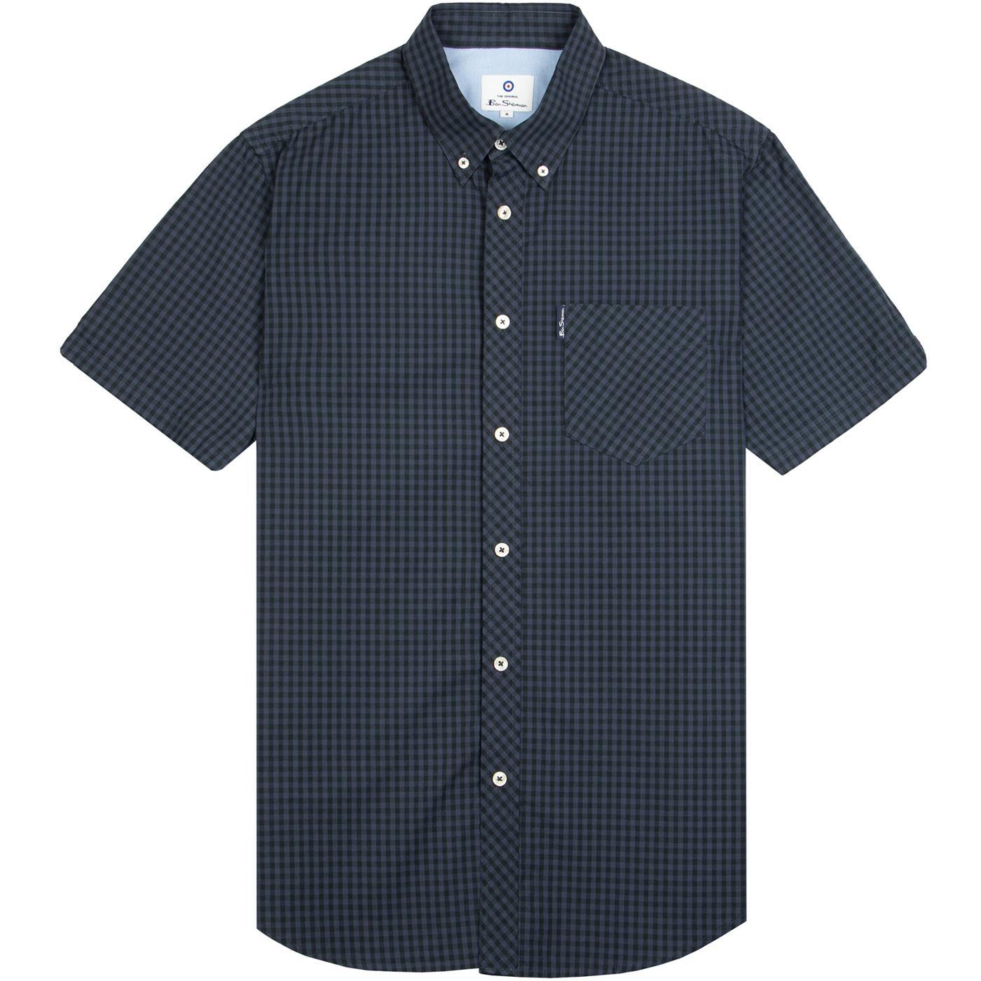 BEN SHERMAN Mod SS Signature Gingham Shirt (B/G)