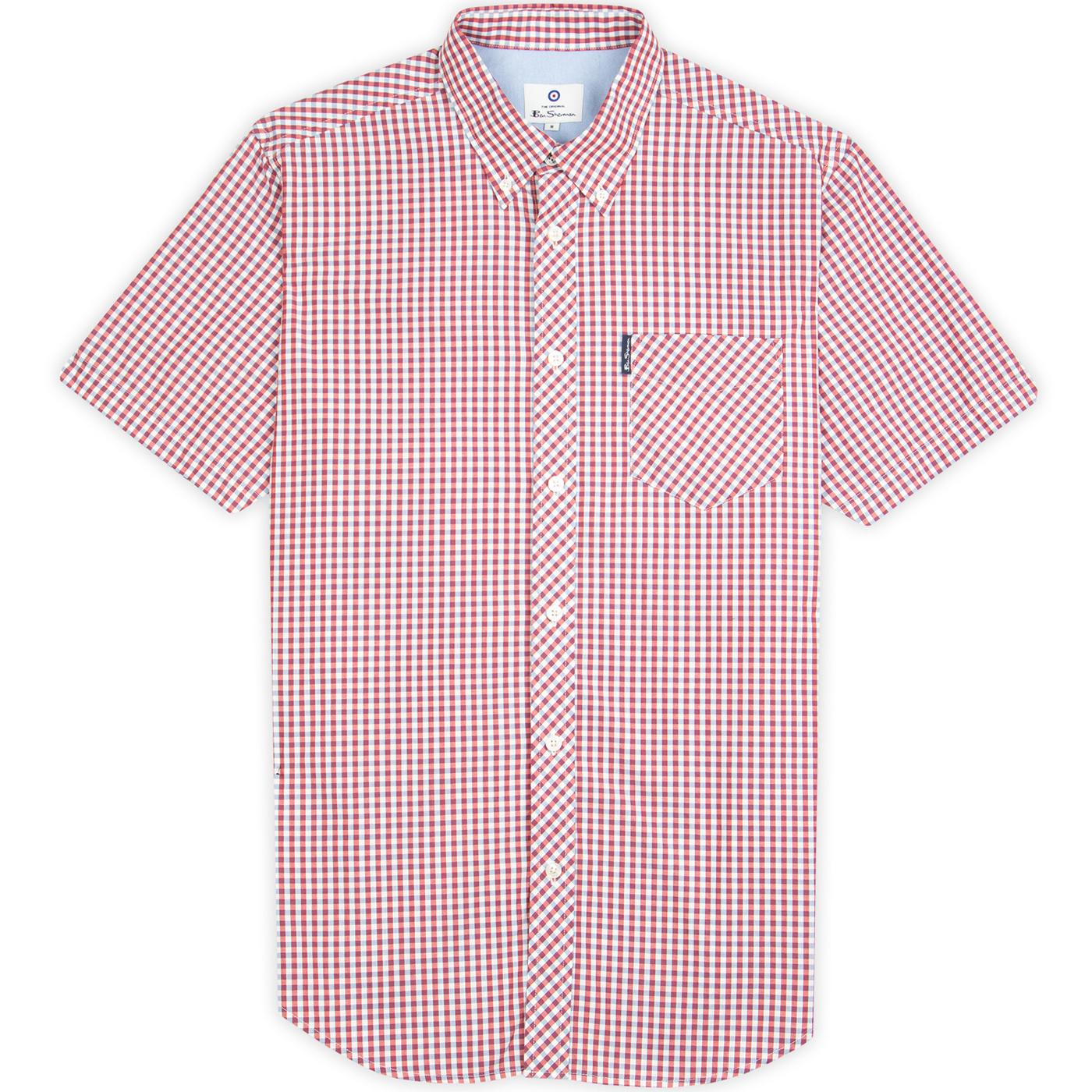 BEN SHERMAN Mod SS Signature Gingham Shirt (Red)