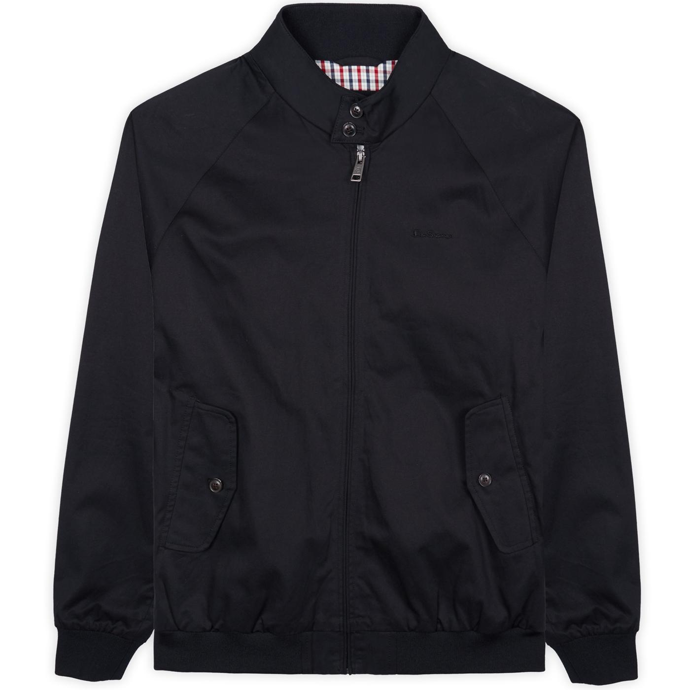 BEN SHERMAN Mod Signature Harrington Jacket BLACK