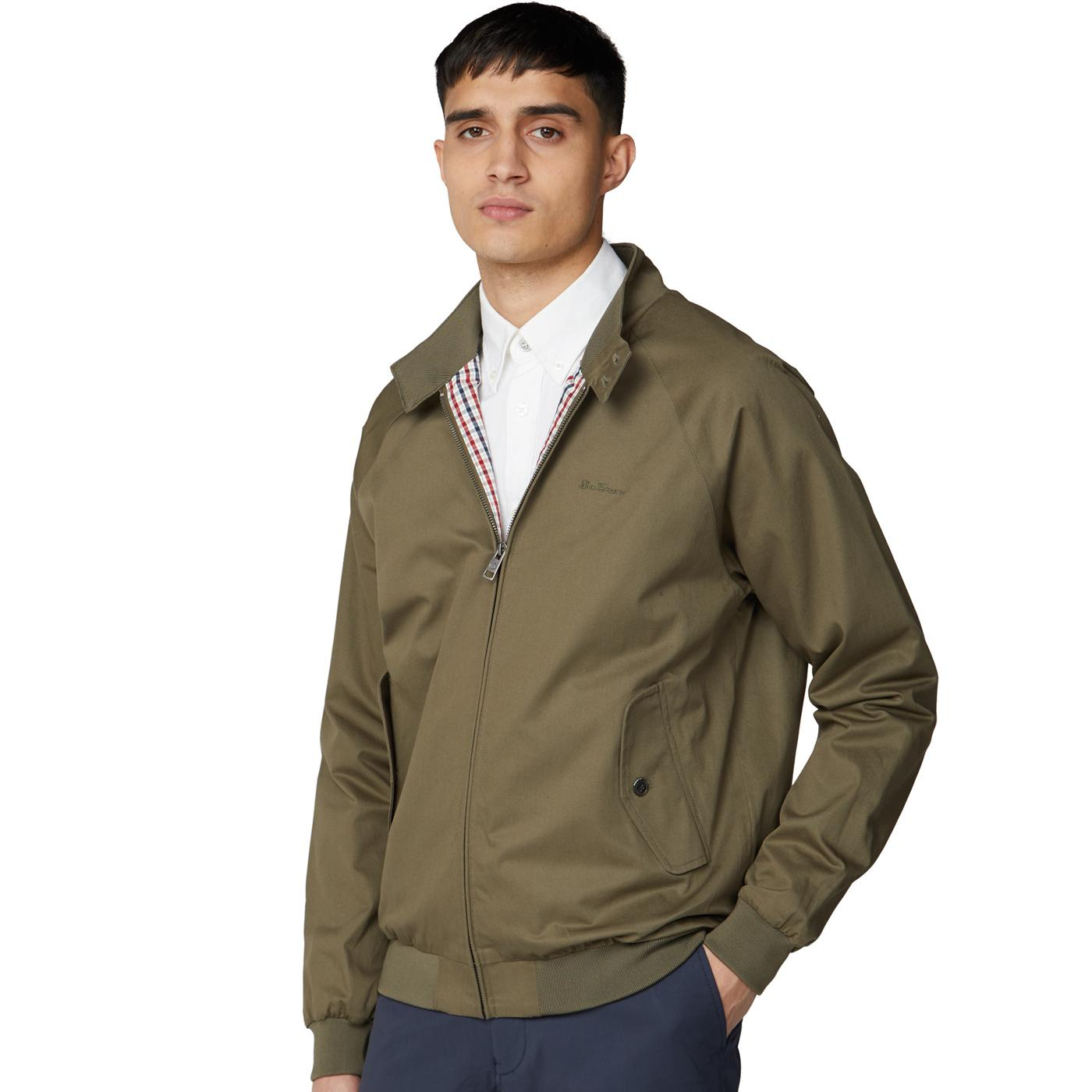 BEN SHERMAN Mod Signature Harrington Jacket KHAKI