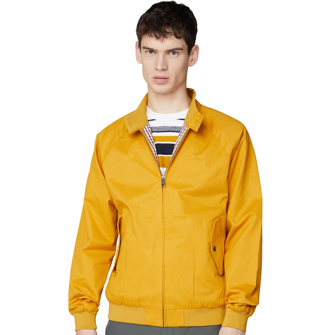 BEN SHERMAN Mod Signature Harrington Jacket OCHRE