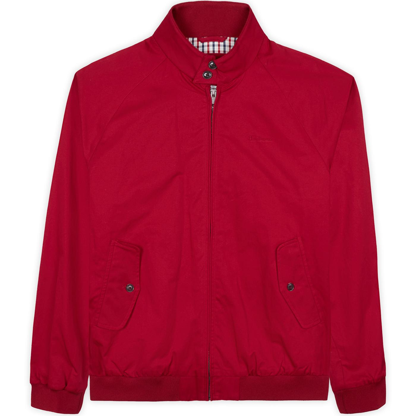 BEN SHERMAN Mod Signature Harrington Jacket (Red)