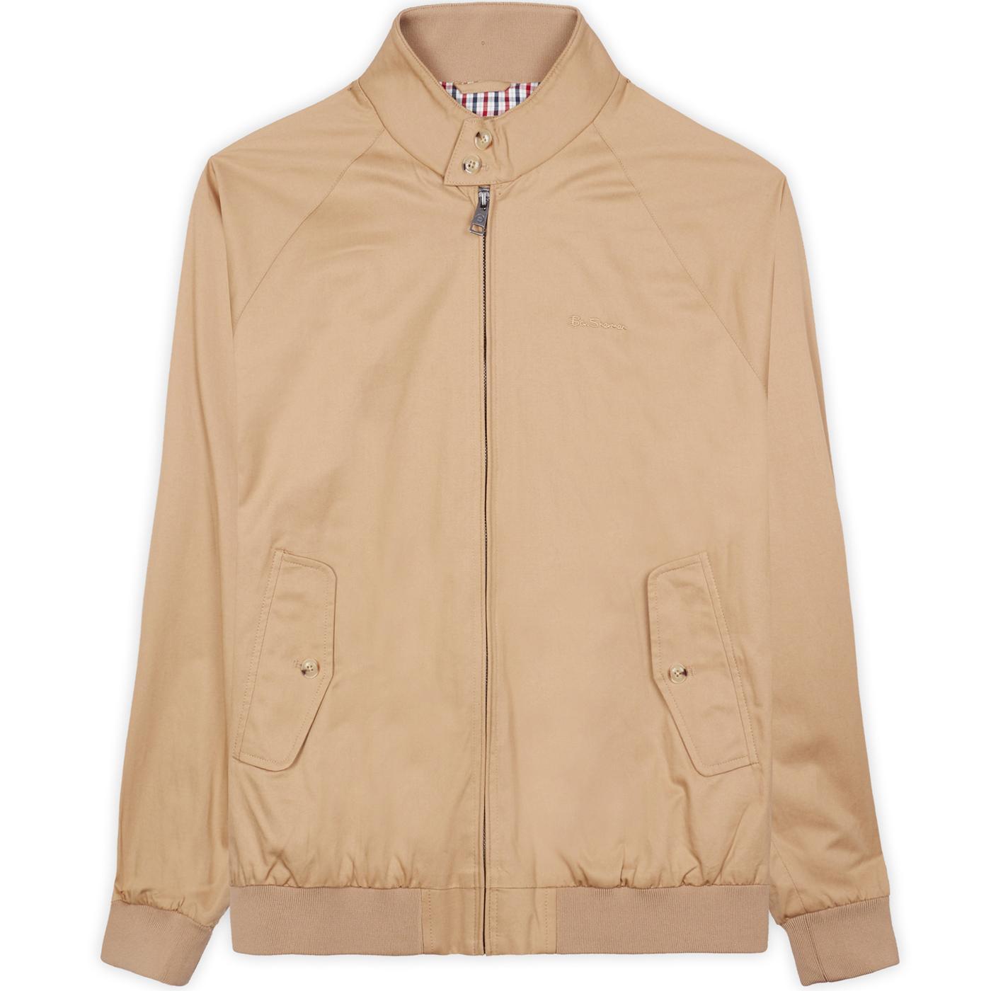 BEN SHERMAN Mod Signature Harrington Jacket (Sand)