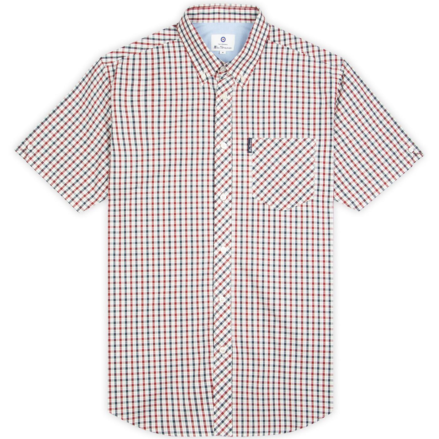 BEN SHERMAN 60s Mod SS Signature House Check Shirt