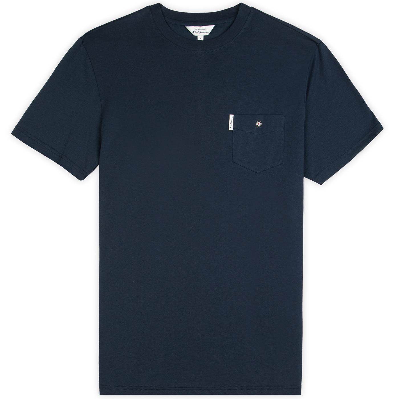 BEN SHERMAN Mod Target Popper Pocket Tee (Navy)