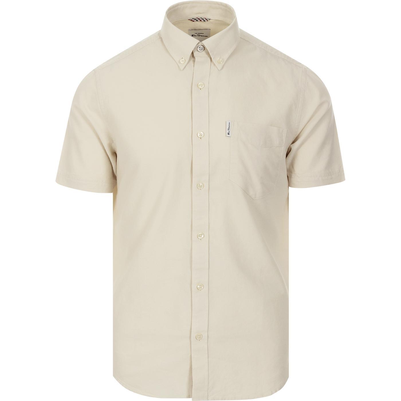 BEN SHERMAN 60s Mod SS Signature Oxford Shirt ECRU