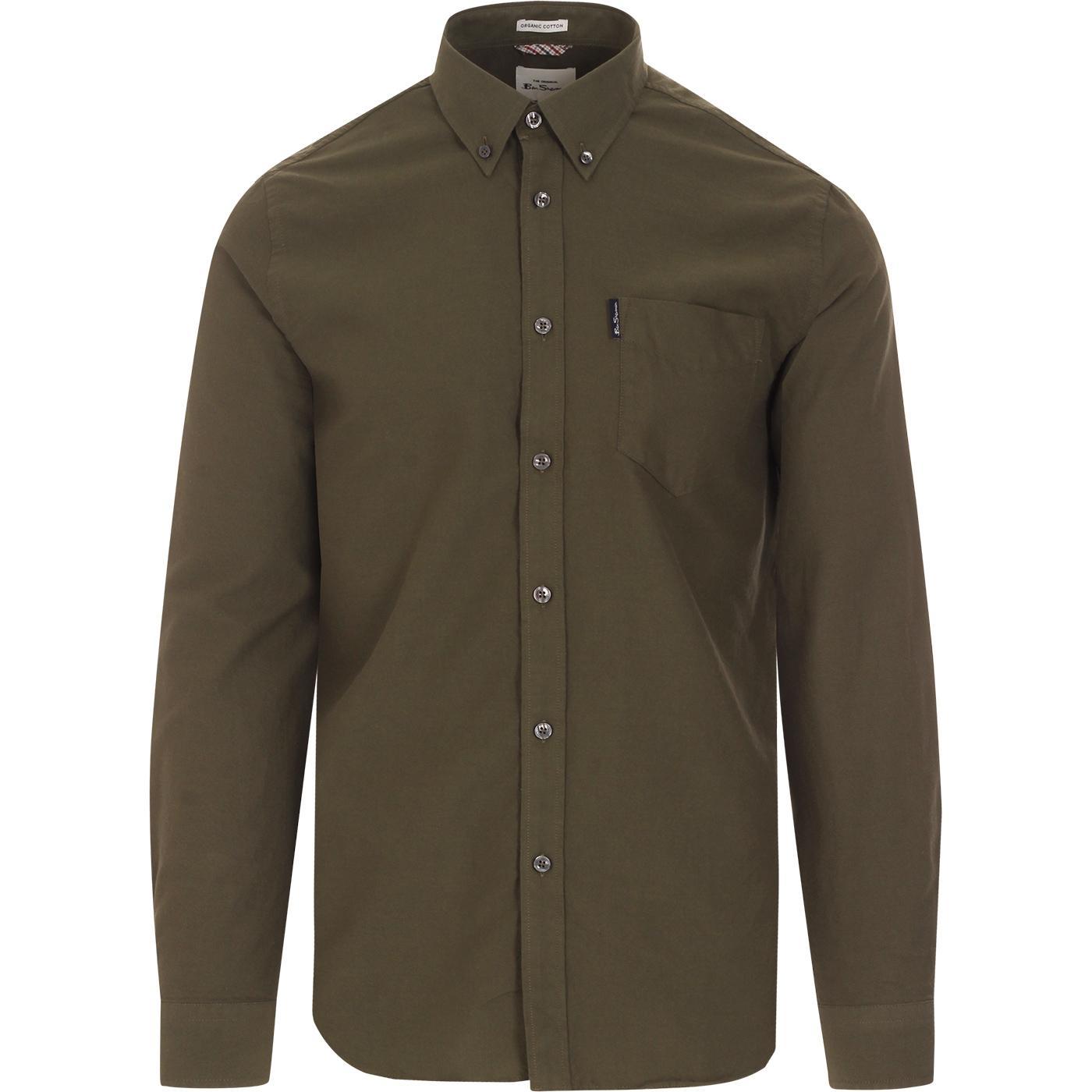 BEN SHERMAN Mod Button Down Oxford Shirt (Loden)