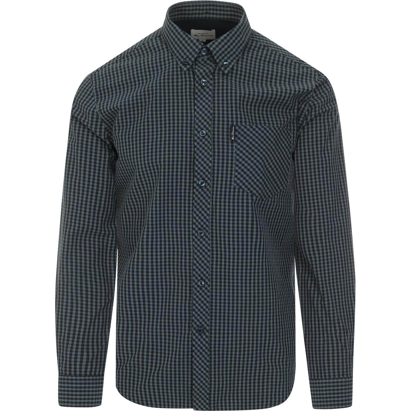 BEN SHERMAN Retro Mod Signature Gingham Shirt SEA