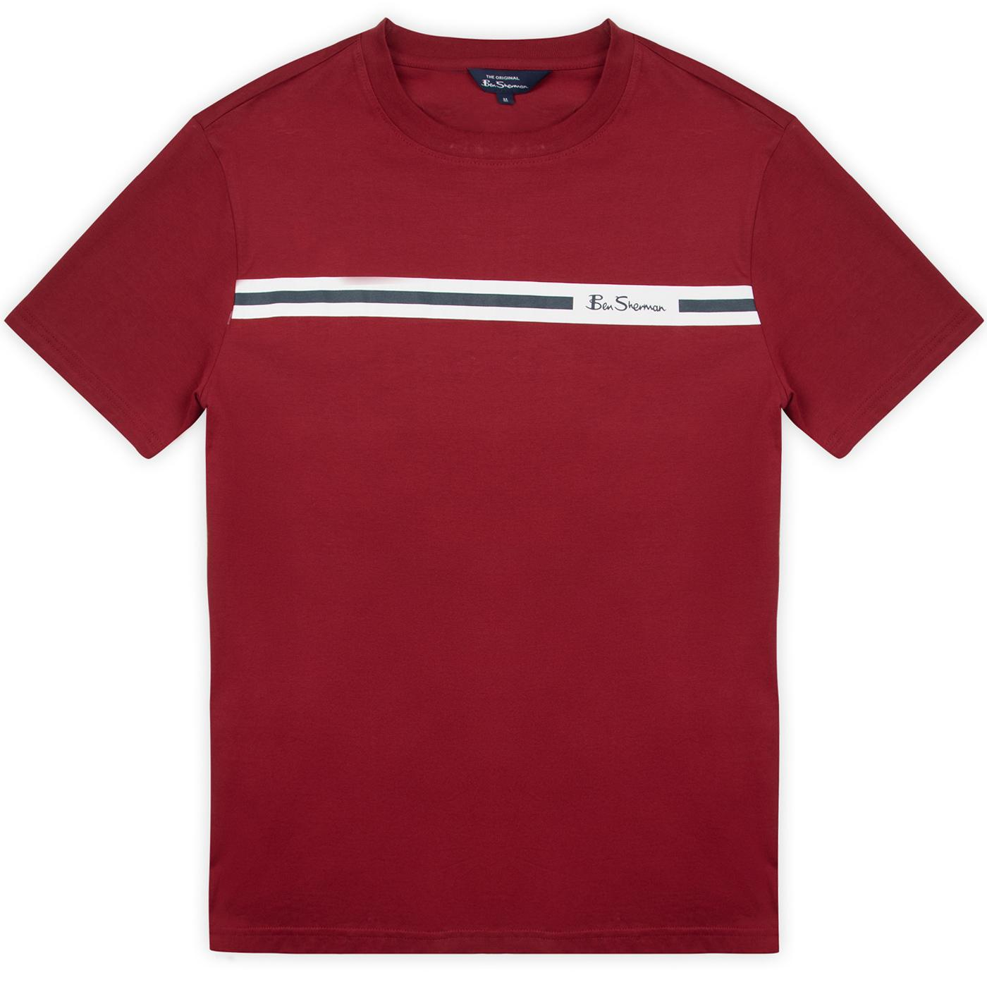 BEN SHERMAN Retro 90s Indie Chest Stripe Tee (Red)
