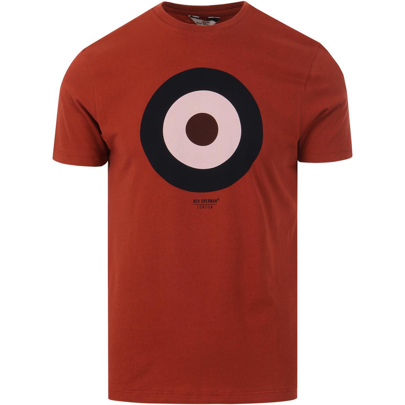 BEN SHERMAN Retro 1960s Mod Target T-shirt (Rust)