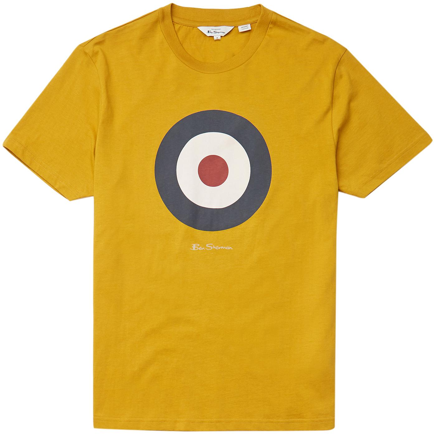 BEN SHERMAN 60s Pop Art Mod Target Tee (Mustard)