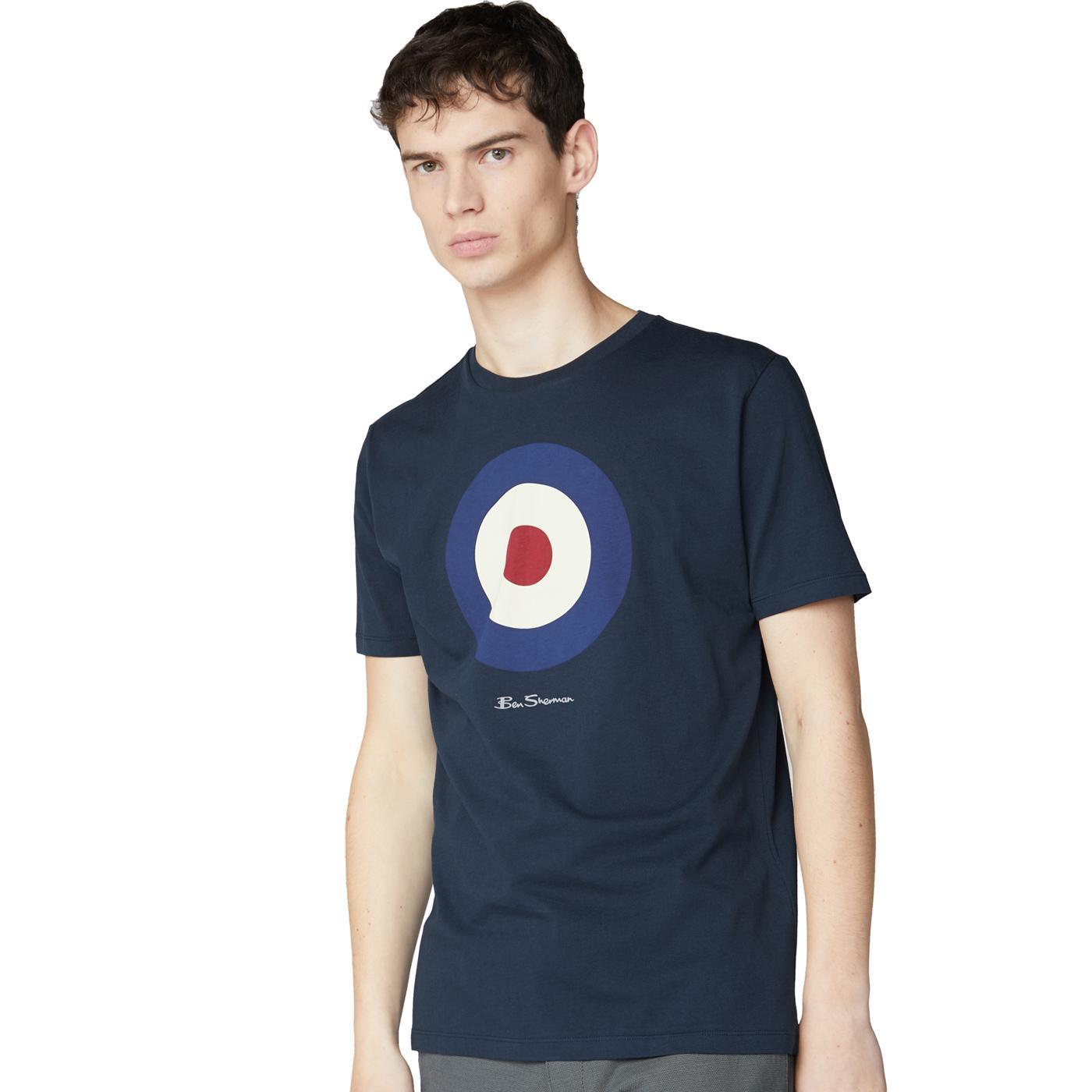 BEN SHERMAN Signature Mod Target T-shirt (Navy)