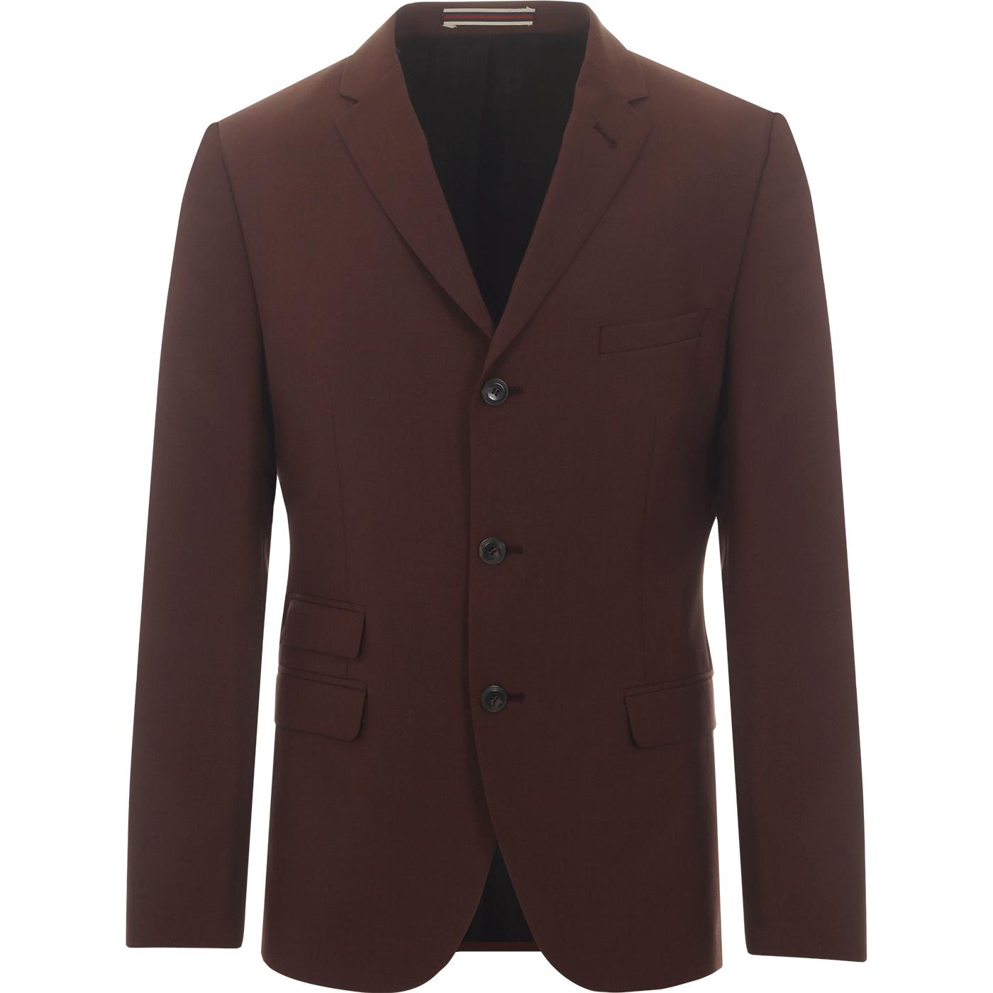 BEN SHERMAN 3 Button Tonic Suit Jacket (TOBACCO)