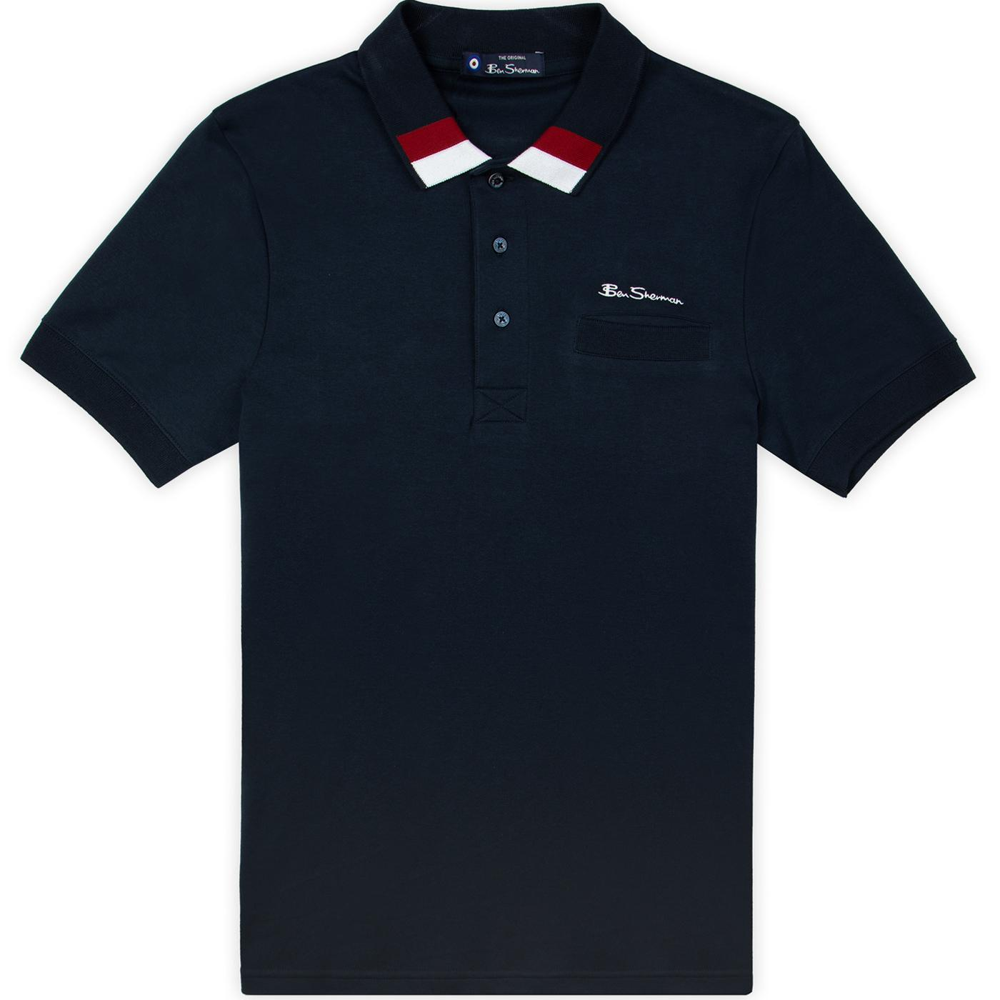 BEN SHERMAN Mod Block Trimmed Pocket Polo Top (DN)