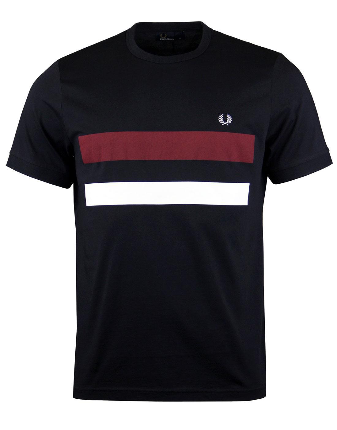 FRED PERRY Mens Retro Bold Stripe Print T-shirt