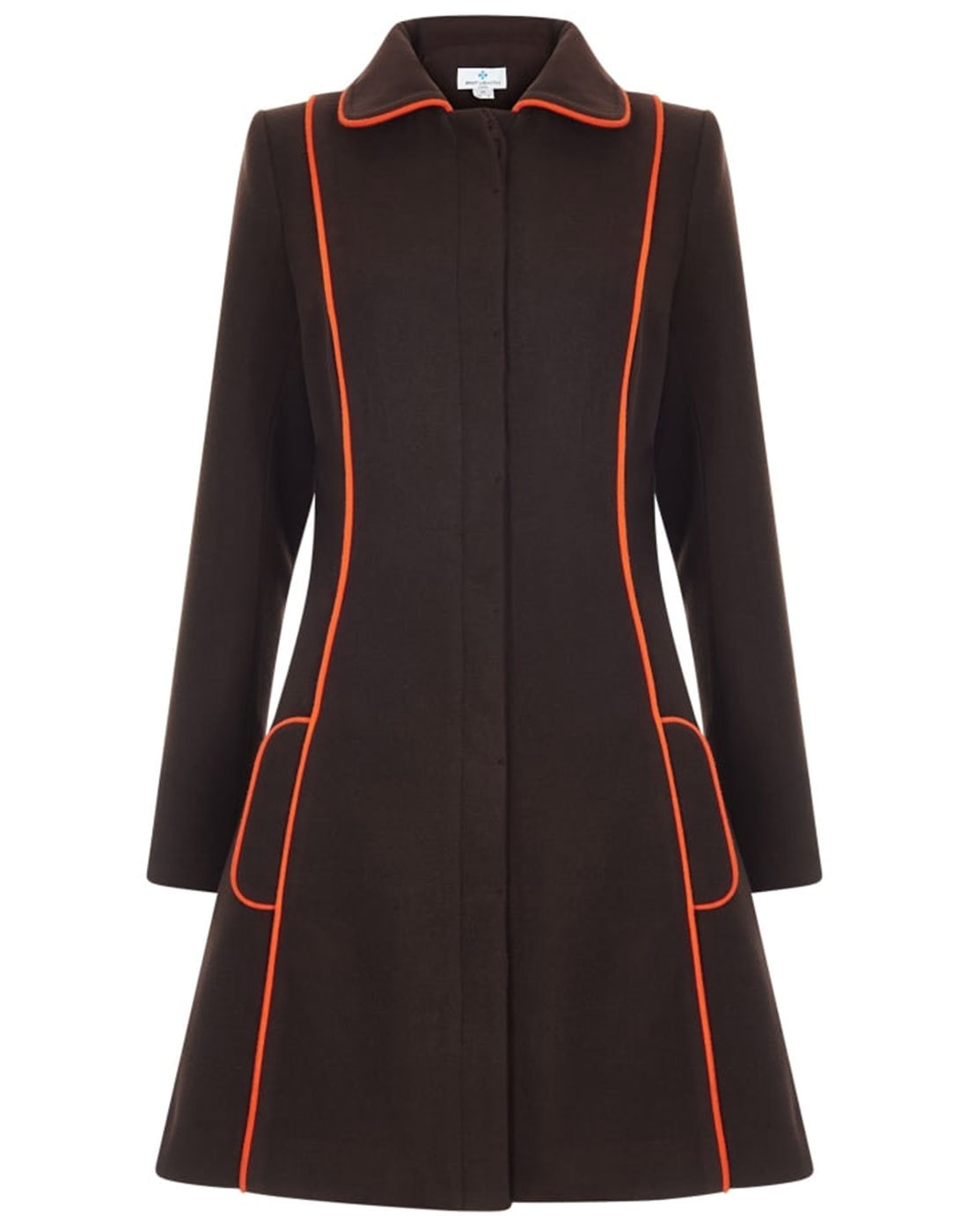 Ava BRIGHT & BEAUTIFUL 60s Mod Piped Trim Coat