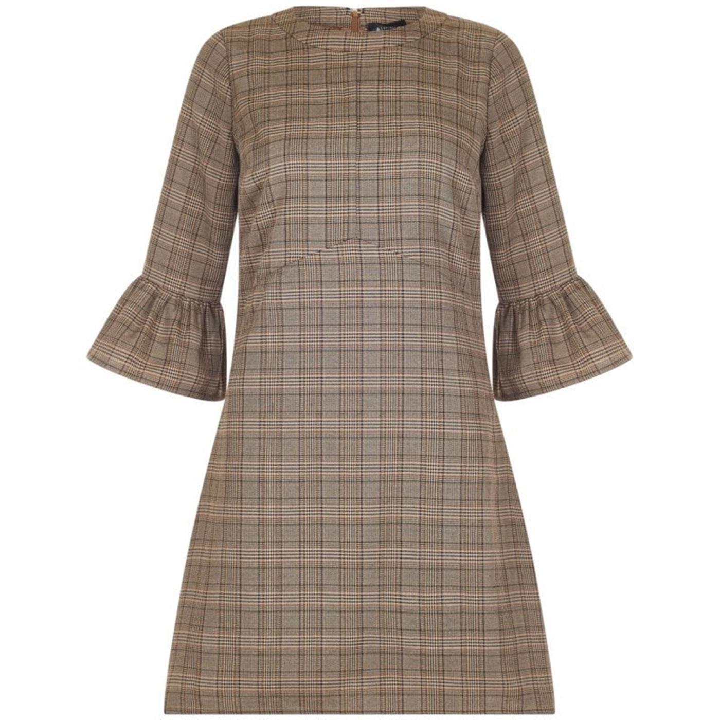 Emily BRIGHT & BEAUTIFUL Tweed Mini Dress Brown