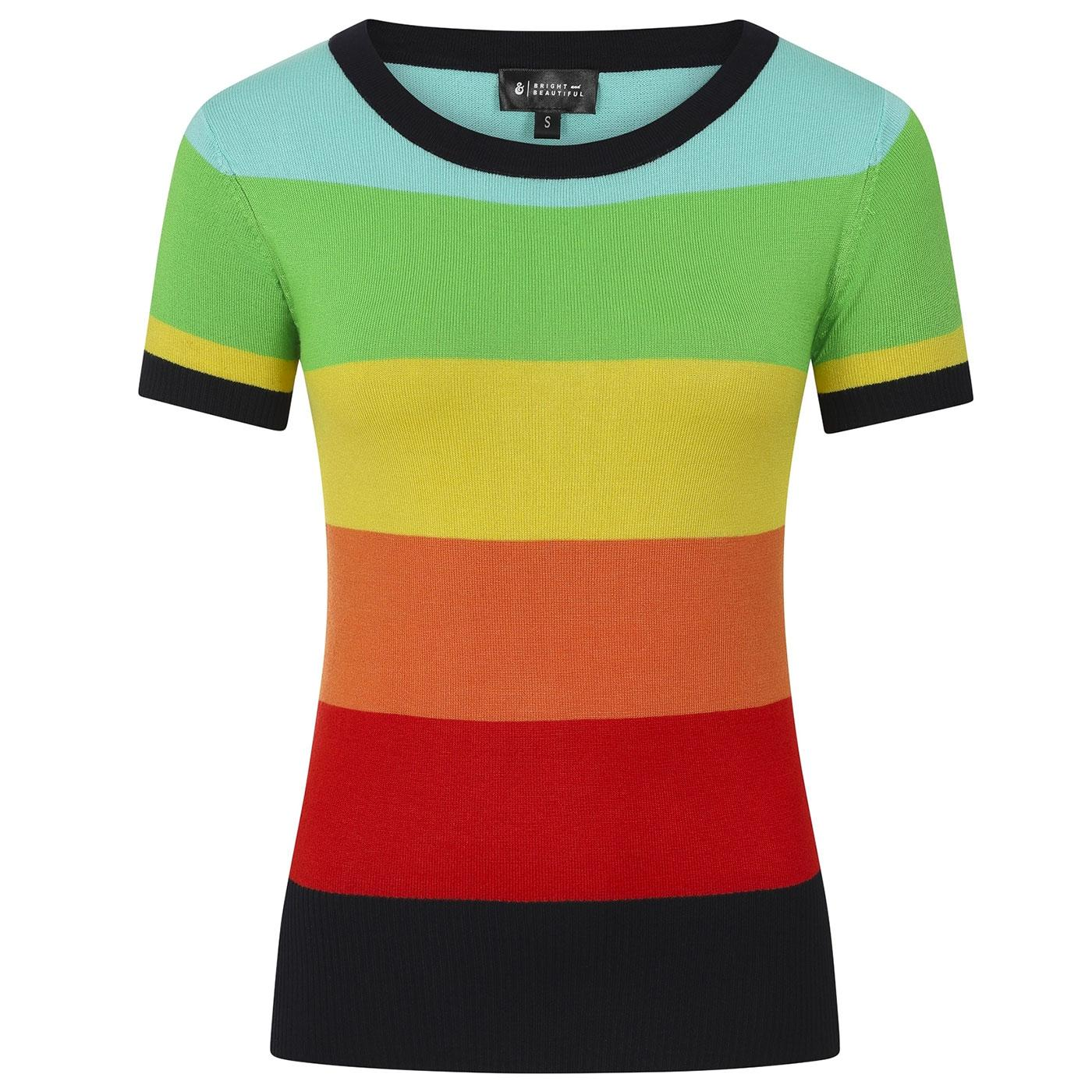 Sydney BRIGHT & BEAUTIFUL 70s Rainbow Dreamer Top