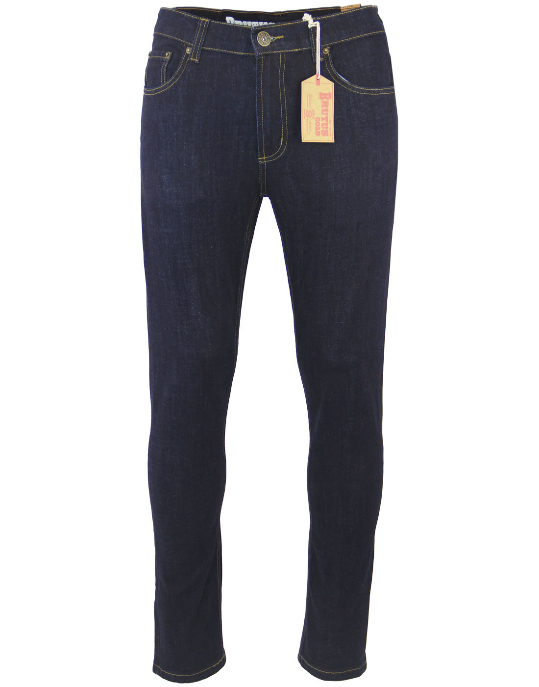 BRUTUS GOLD Retro Mod Slim Stretch Denim Jeans