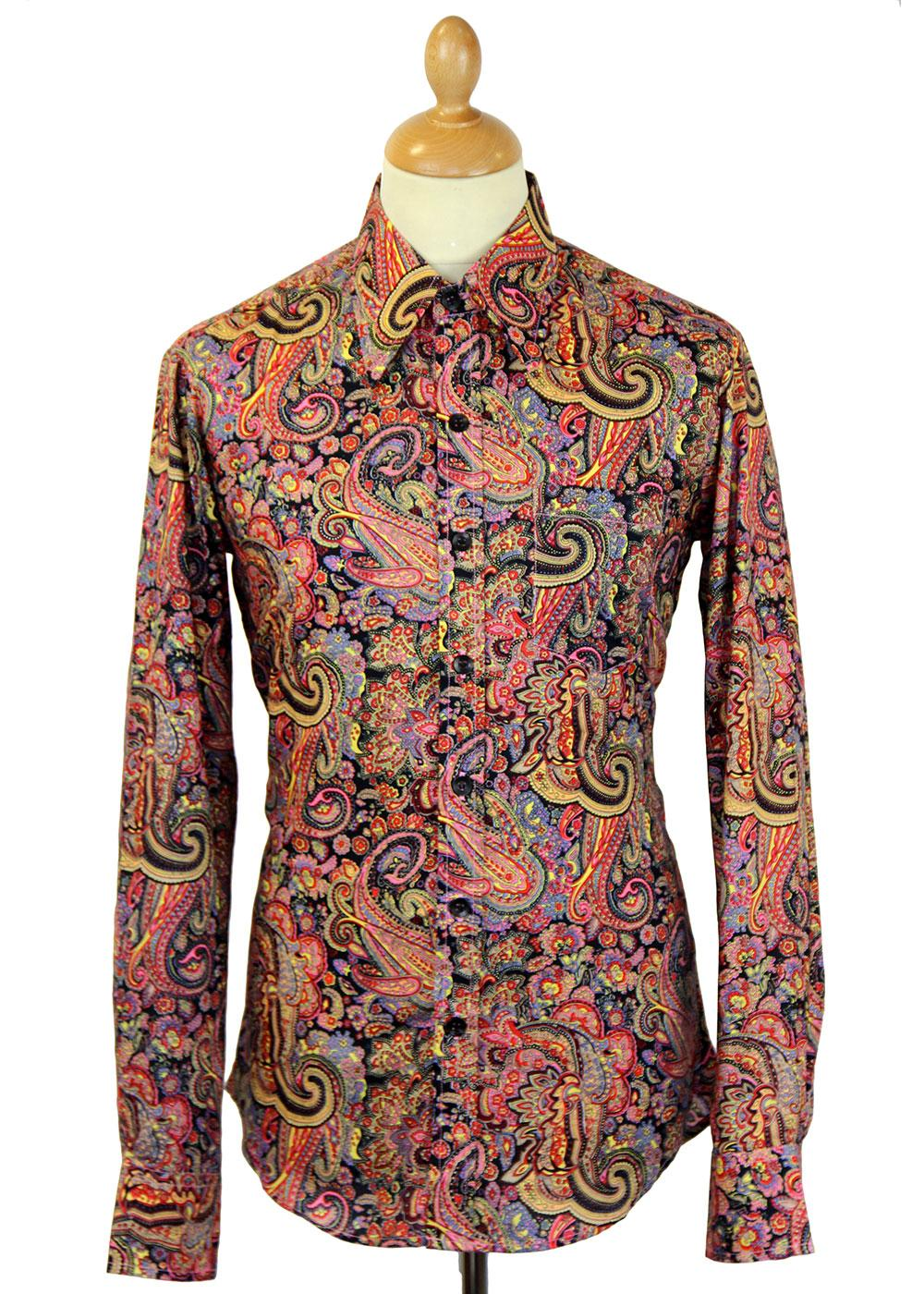 Motley Paisley CHENASKI Retro Mod Big Collar Shirt