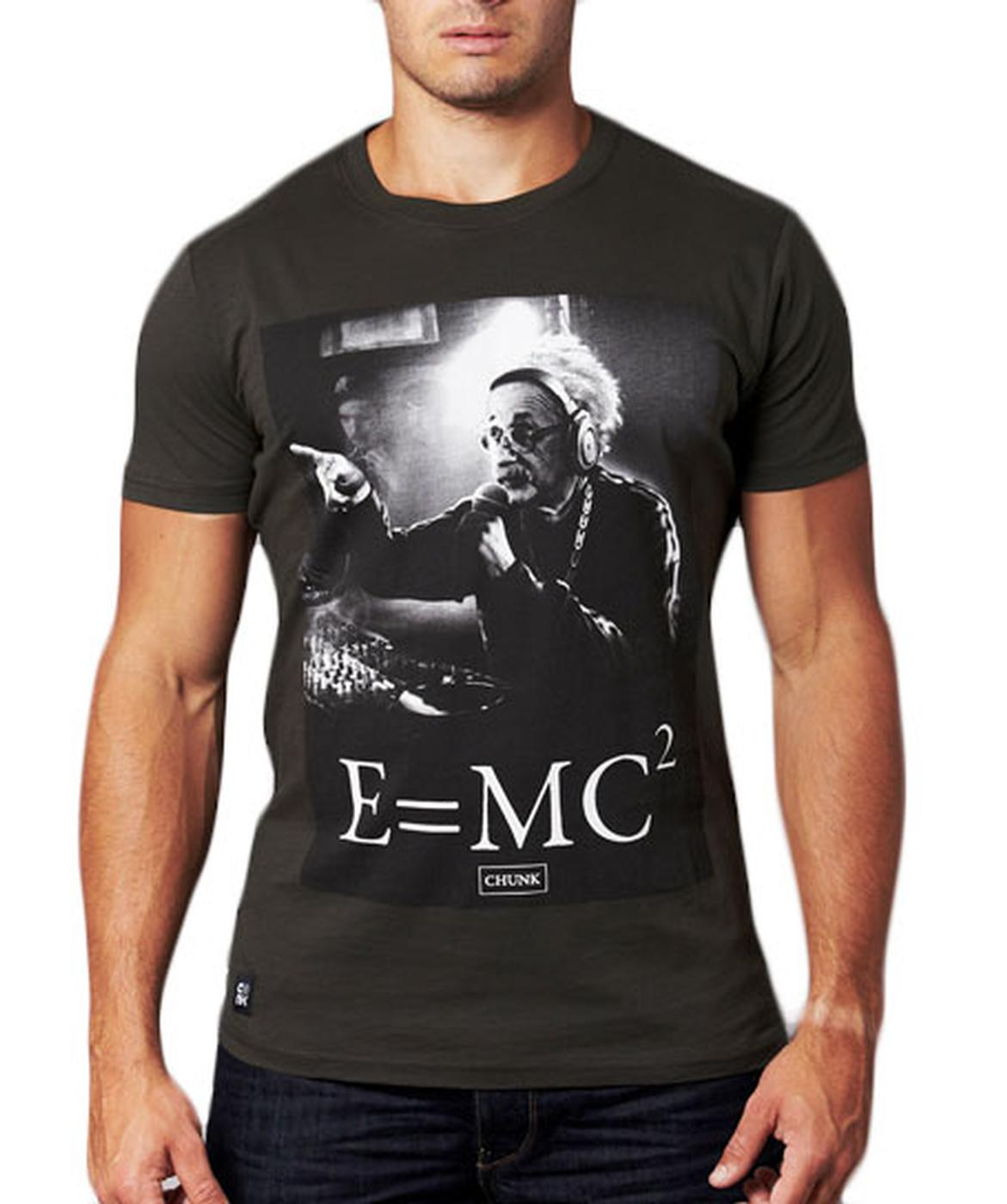 E=MC CHUNK Albert Einstein Retro Print T-shirt