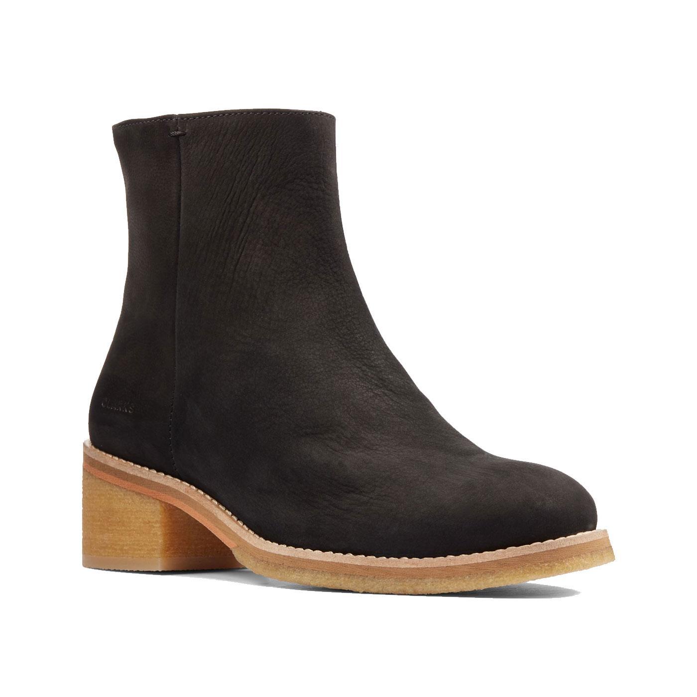 Amara CLARKS ORIGINALS Womens Crepe Heel Boots B