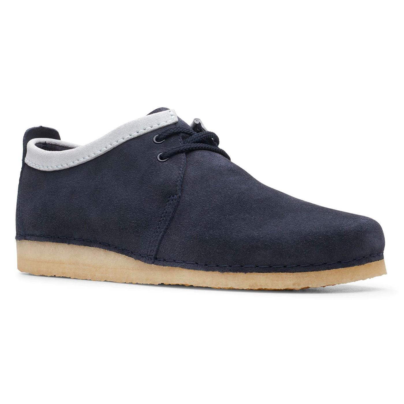 Ashton CLARKS ORIGINALS Retro Mod Navy Suede Shoes
