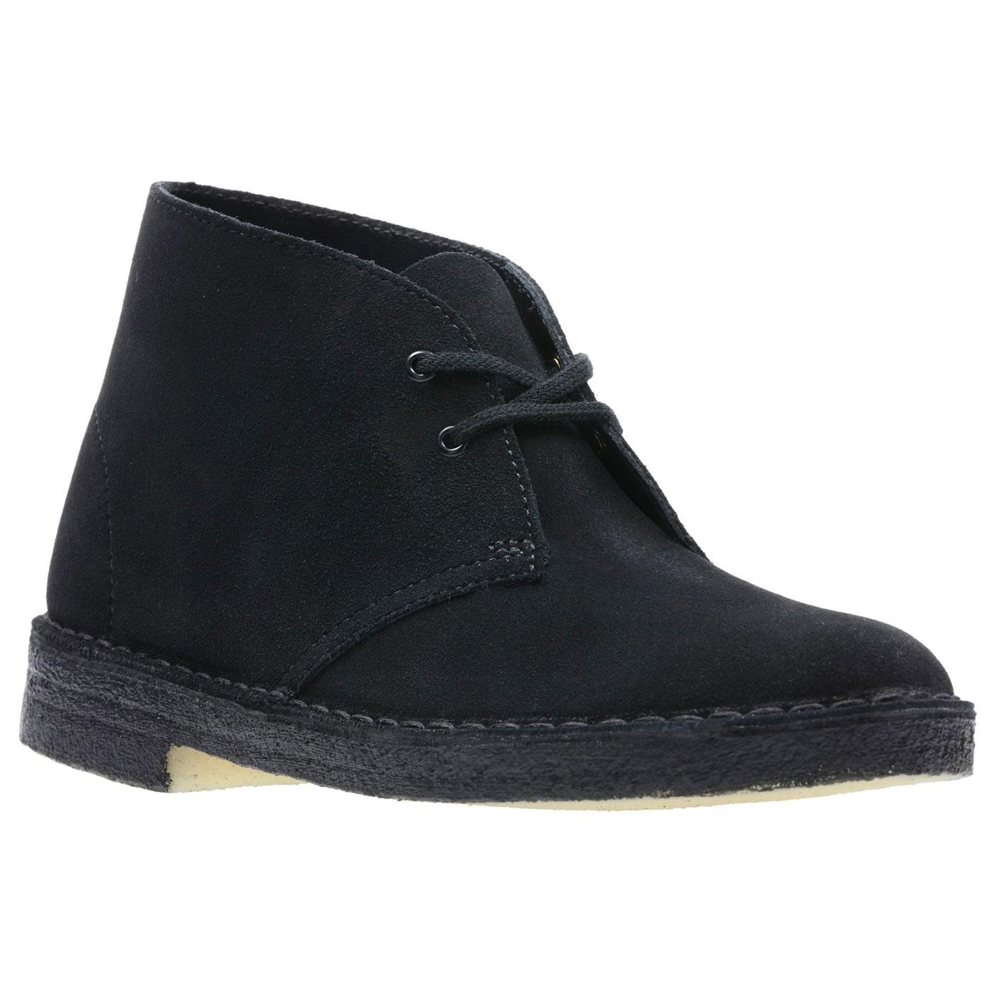 CLARKS ORIGINALS Women's Desert Boots in Black