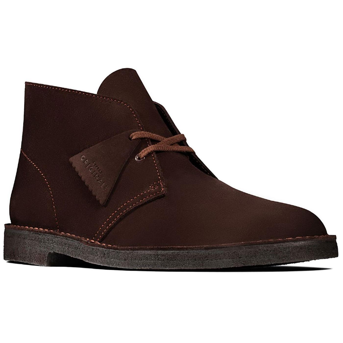 CLARKS ORIGINALS Mod Suede Desert Boots (Brown)