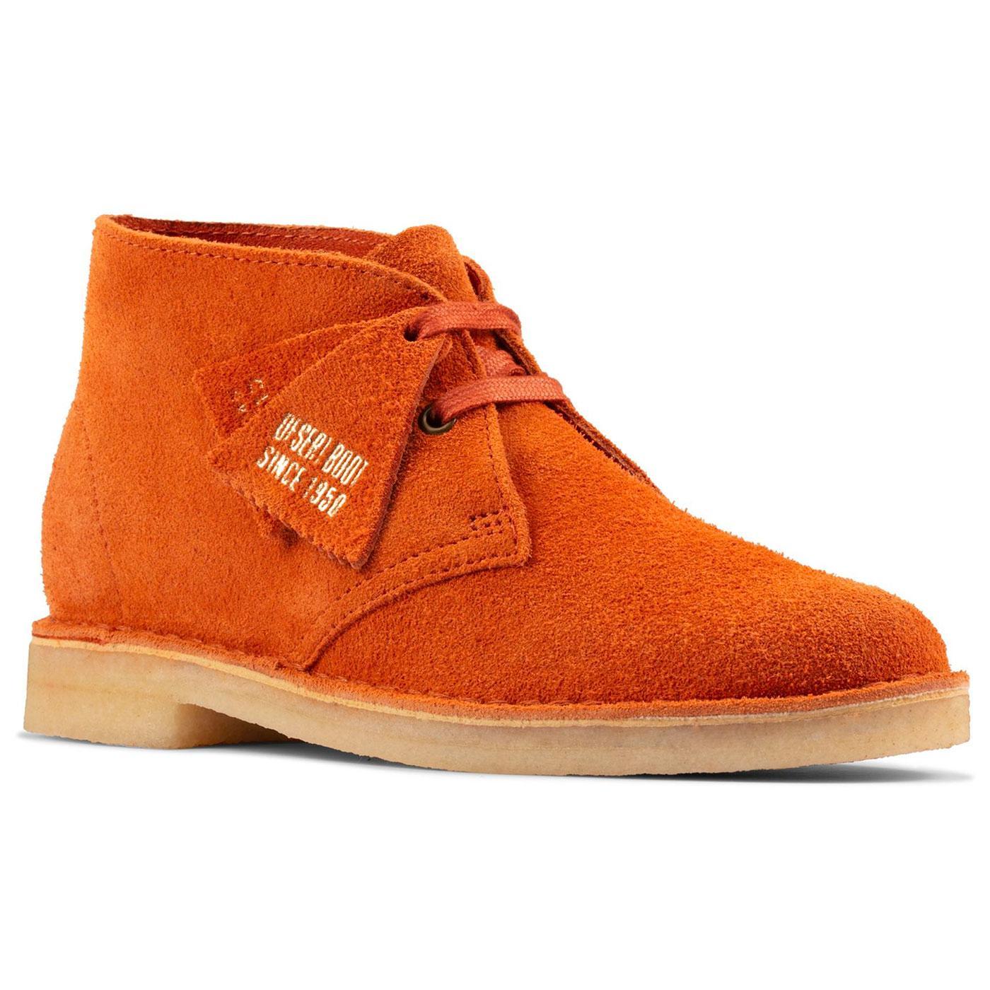 CLARKS ORIGINALS Mod Suede Desert Boots (Ginger)