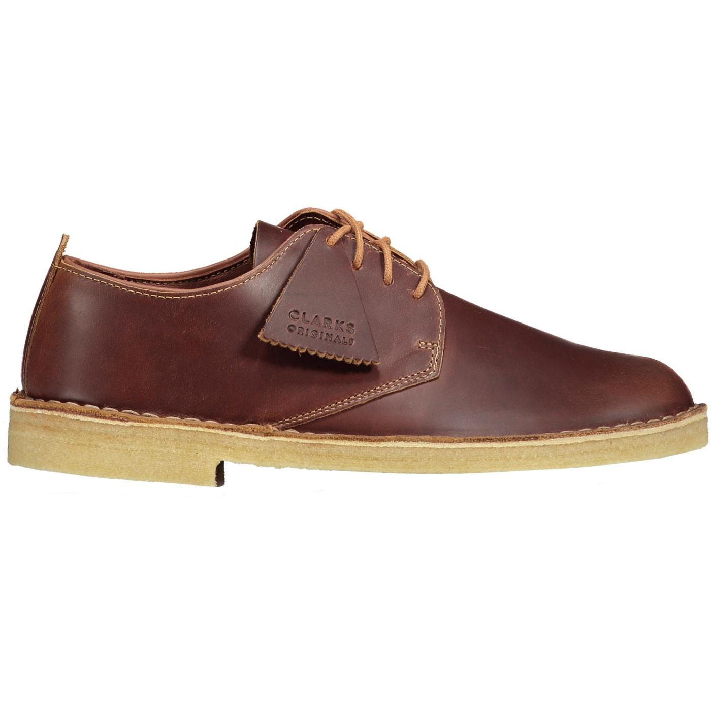 Desert London CLARKS ORIGINALS Tan Leather Shoes