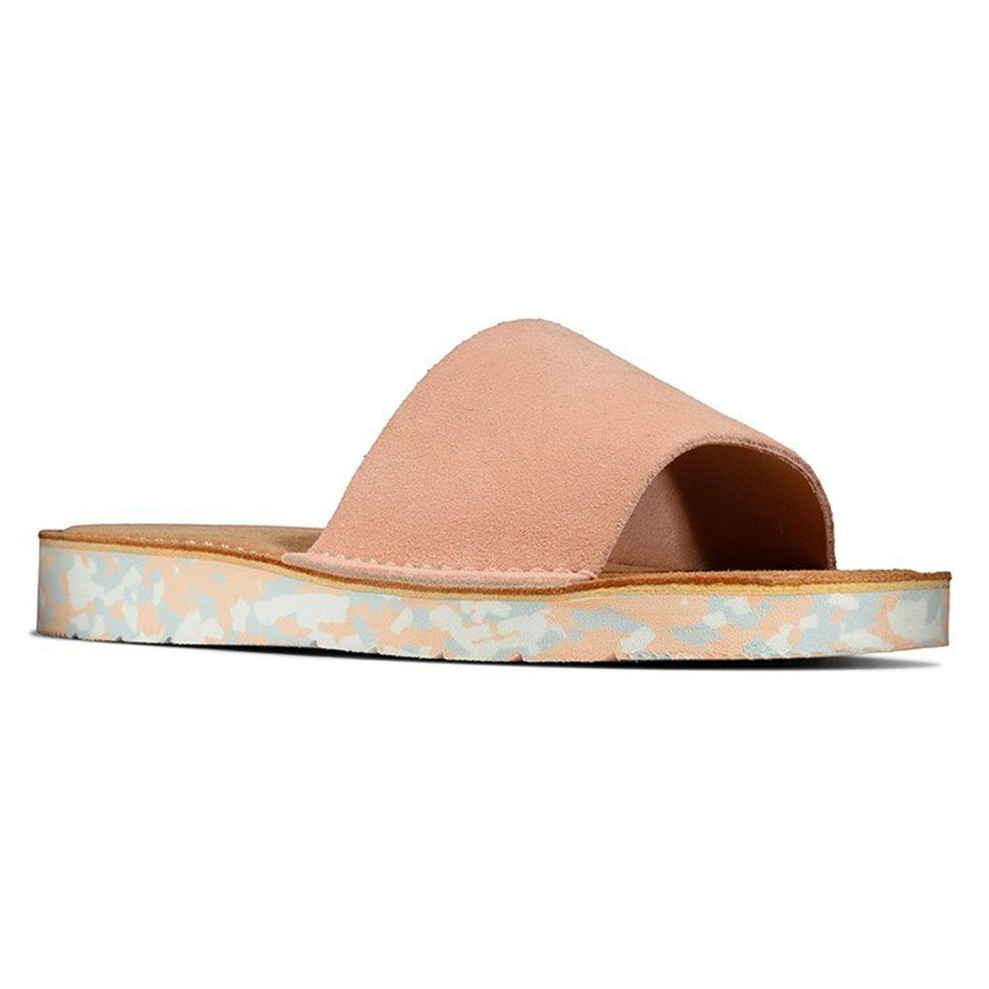 Lunan CLARKS ORIGINALS Suede Slides (Light Pink)