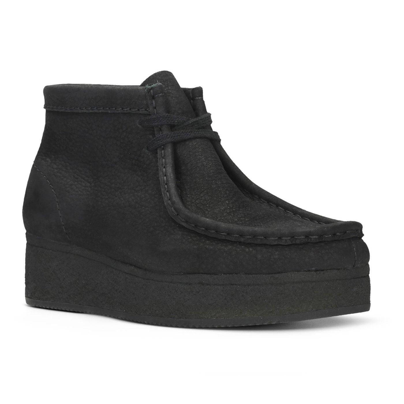 Wallabee Wedge CLARKS ORIGINALS Suede Boots BLACK
