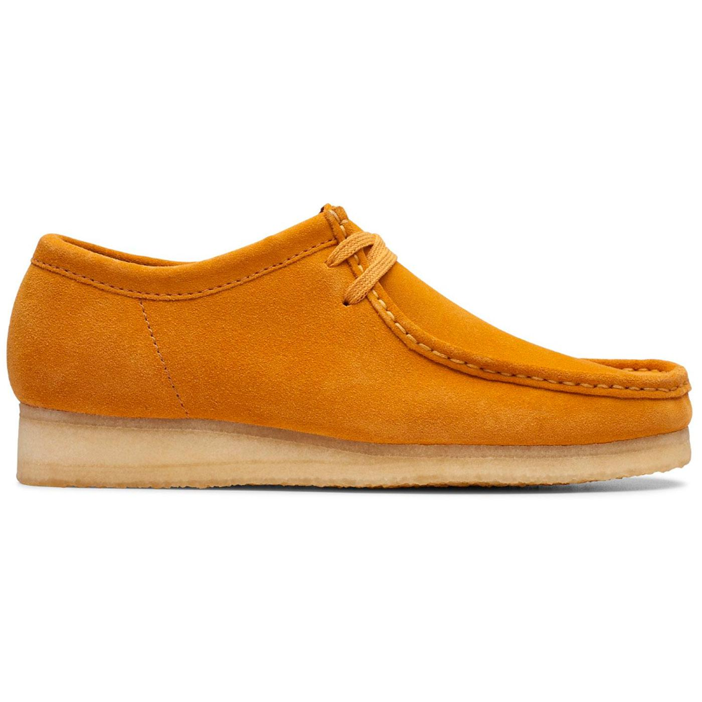 CLARKS ORIGINALS Wallabee Mod Moccasin Shoes Turmeric