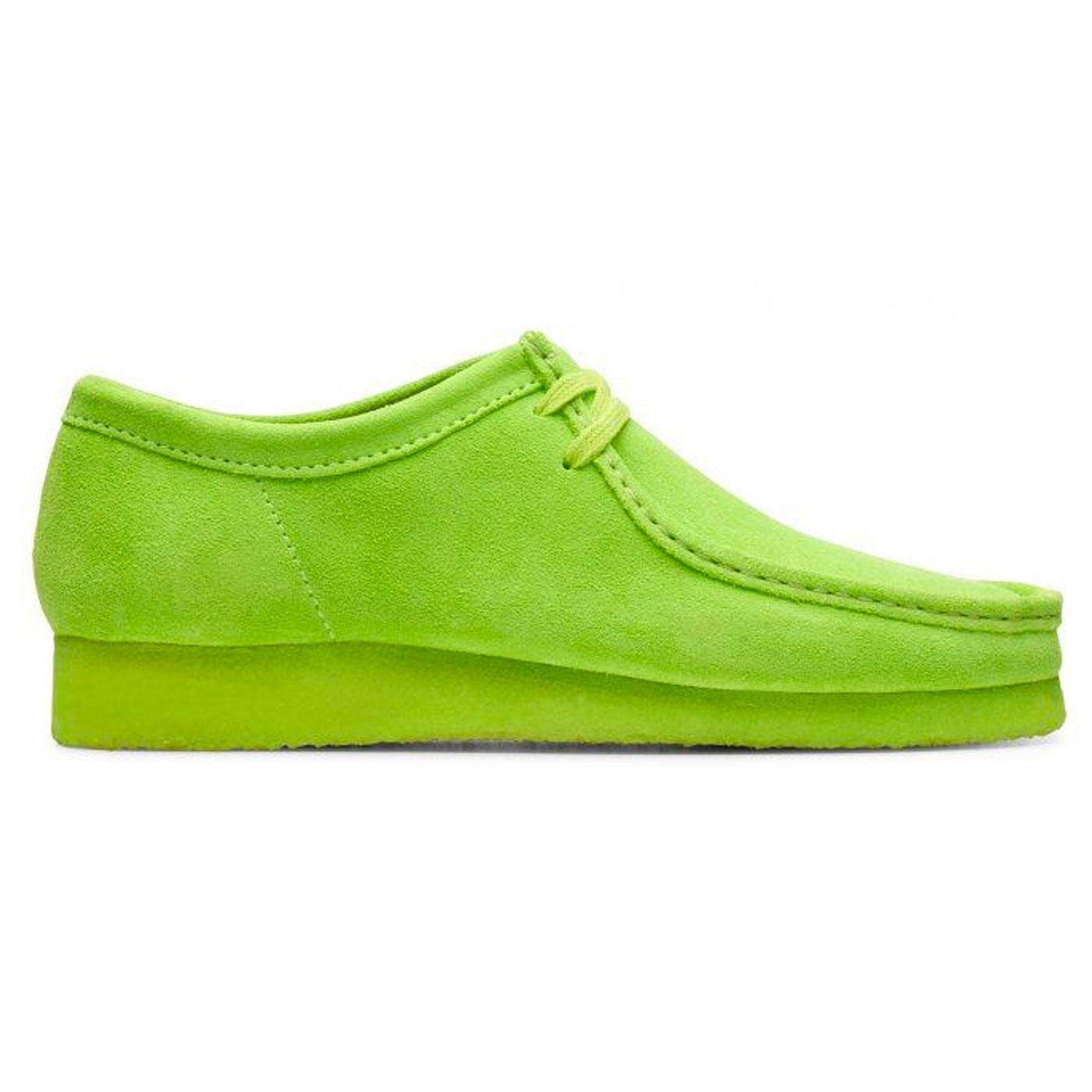 Wallabee CLARKS ORIGINALS Retro Suede Shoes LIME