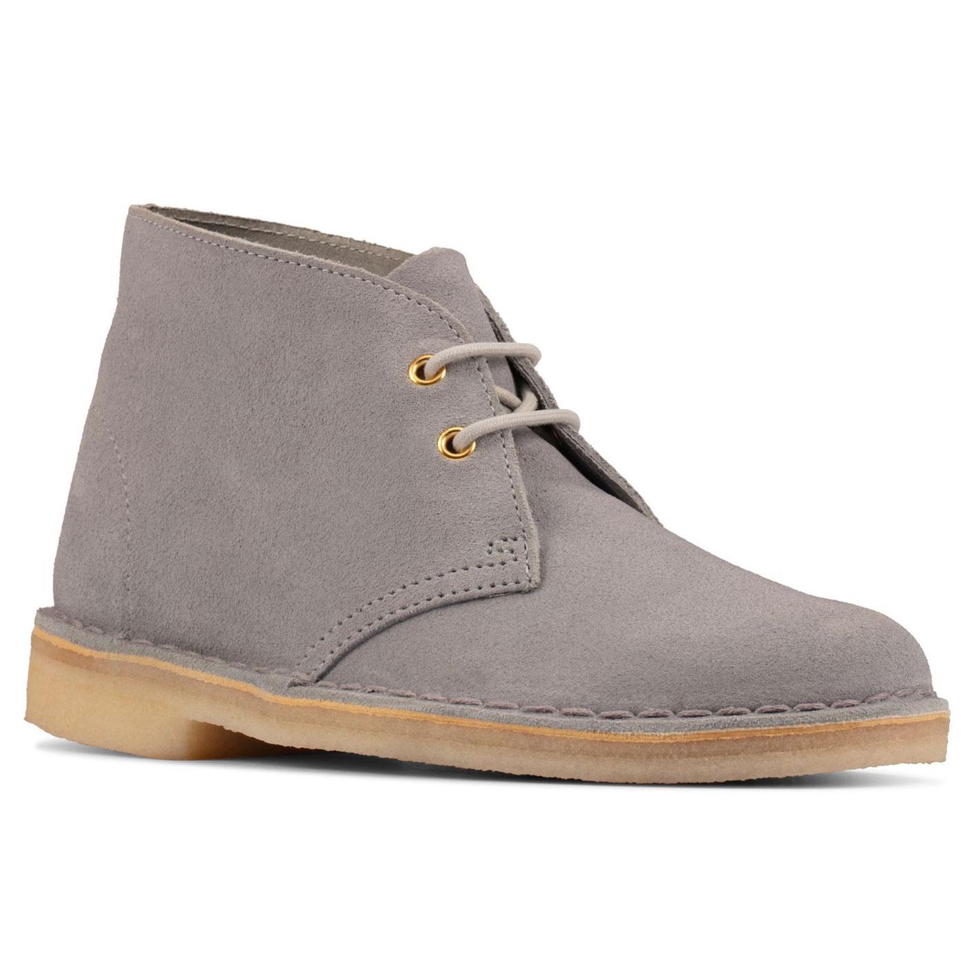 CLARKS ORIGINALS Women's Desert Boots (Blue-Grey)