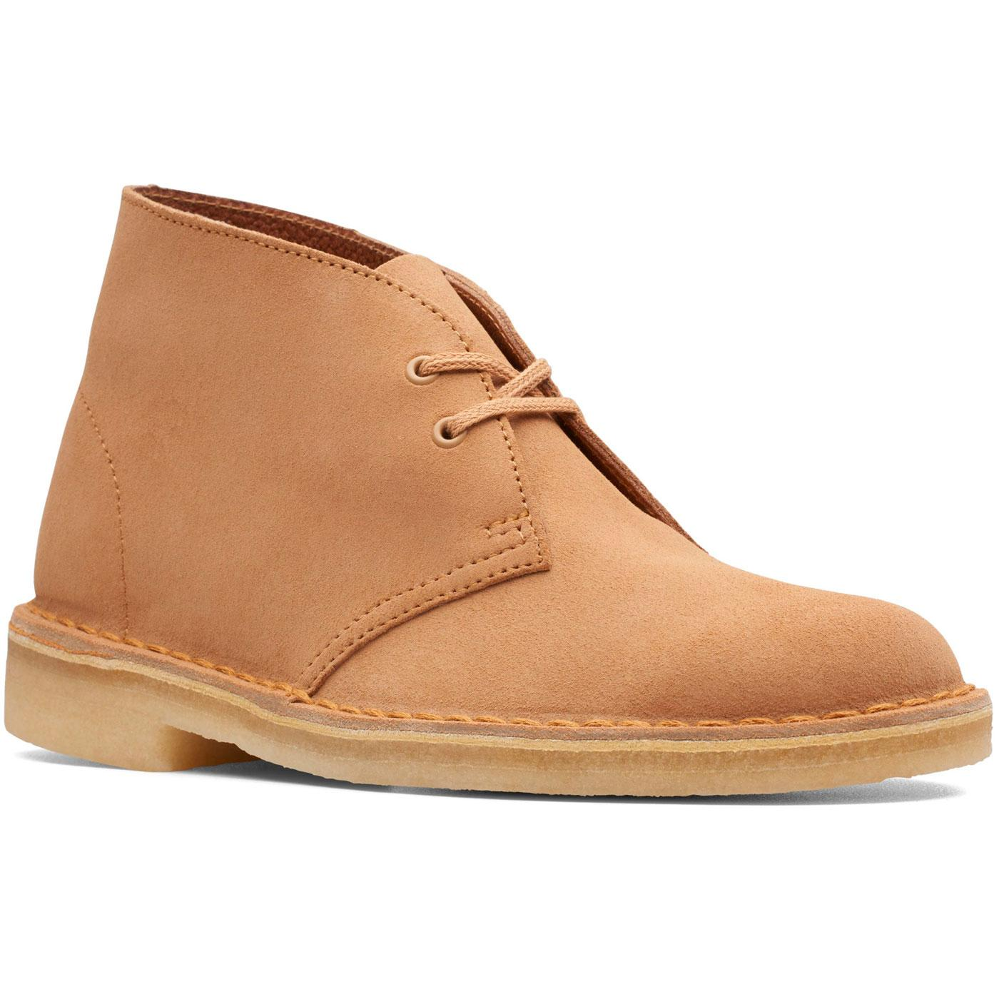 CLARKS ORIGINALS Women's Desert Boots in Light Tan