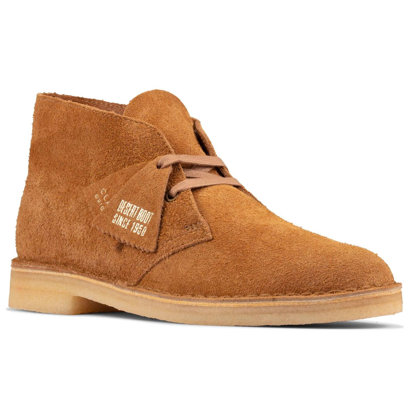 CLARKS ORIGINALS Women's Desert Boots in Nutmeg