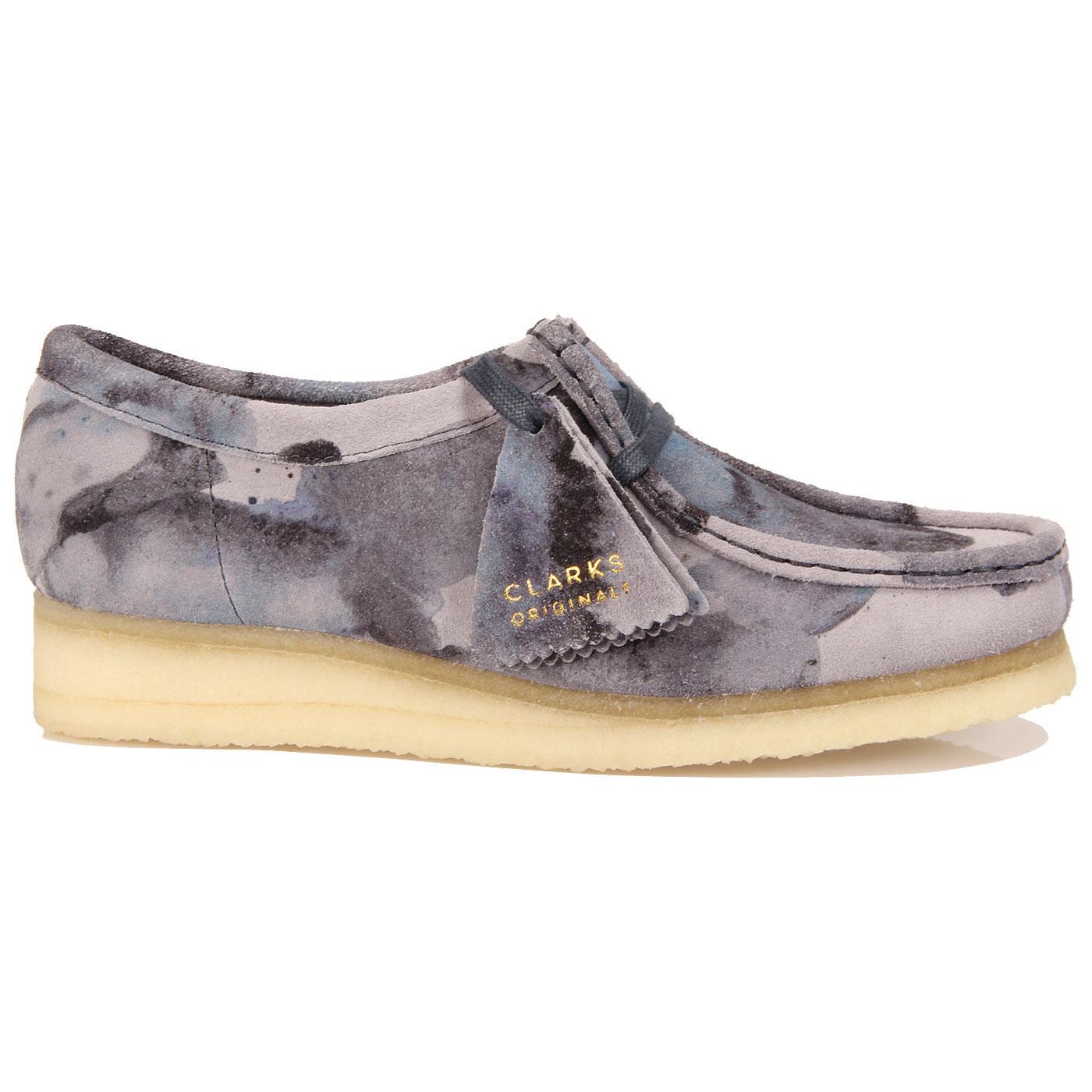 Wallabee CLARKS ORIGINALS Womens Camo Shoes BLUE