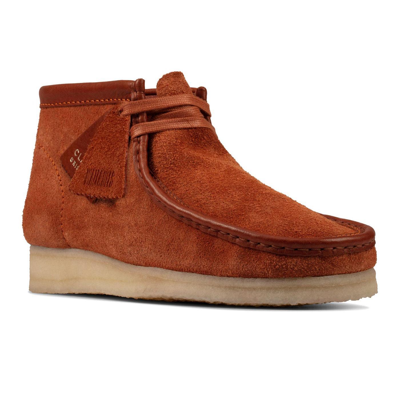 Wallabee Boots CLARKS ORIGINALS Suede Boots TAN
