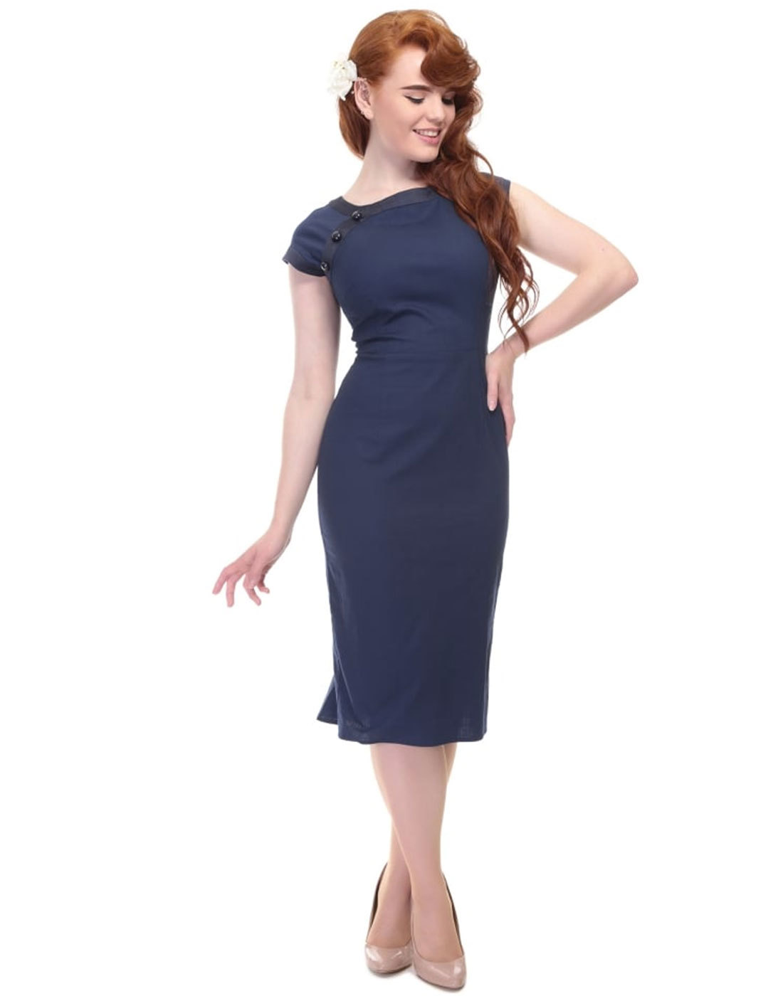 Nyoko COLLECTIF Retro 50s Vintage Fishtail Dress
