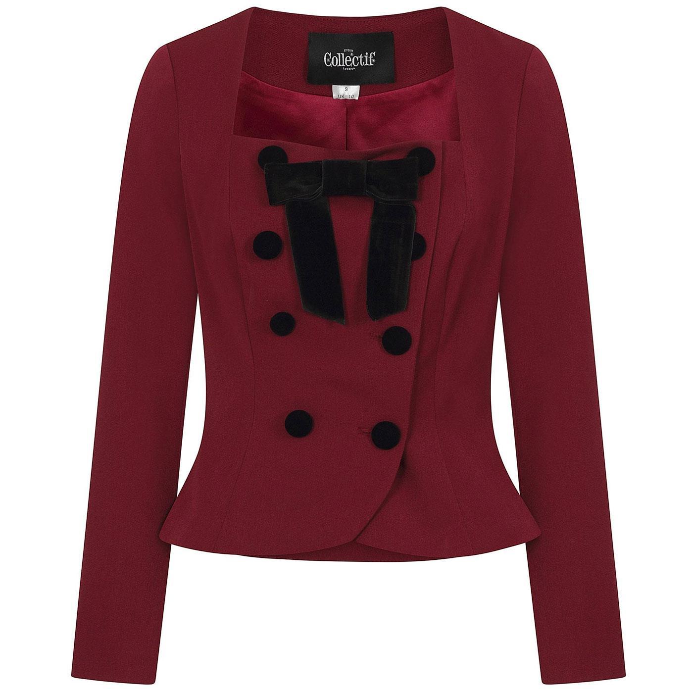 Agatha COLLECTIF 1940s Vintage Jacket in Burgundy