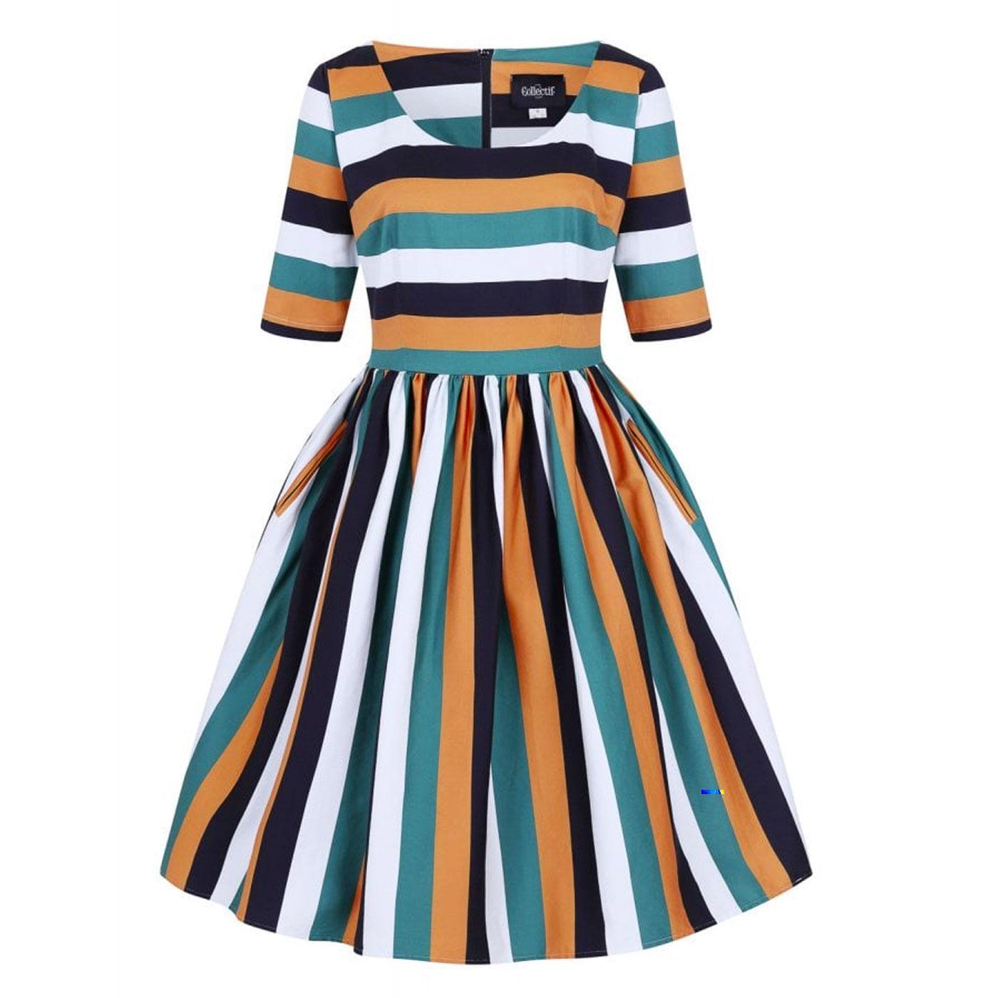 Amber-Lea COLLECTIF Pumpkin Swing Dress