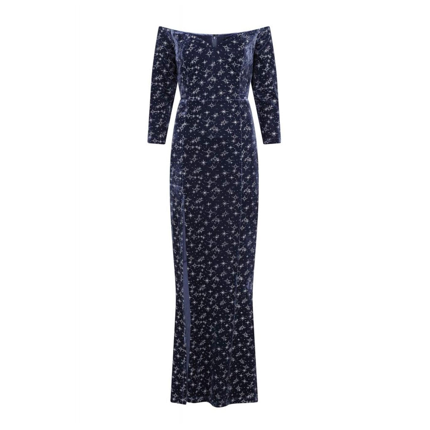 Anjelica COLLECTIF Velvet Sparkle Maxi Dress Ch